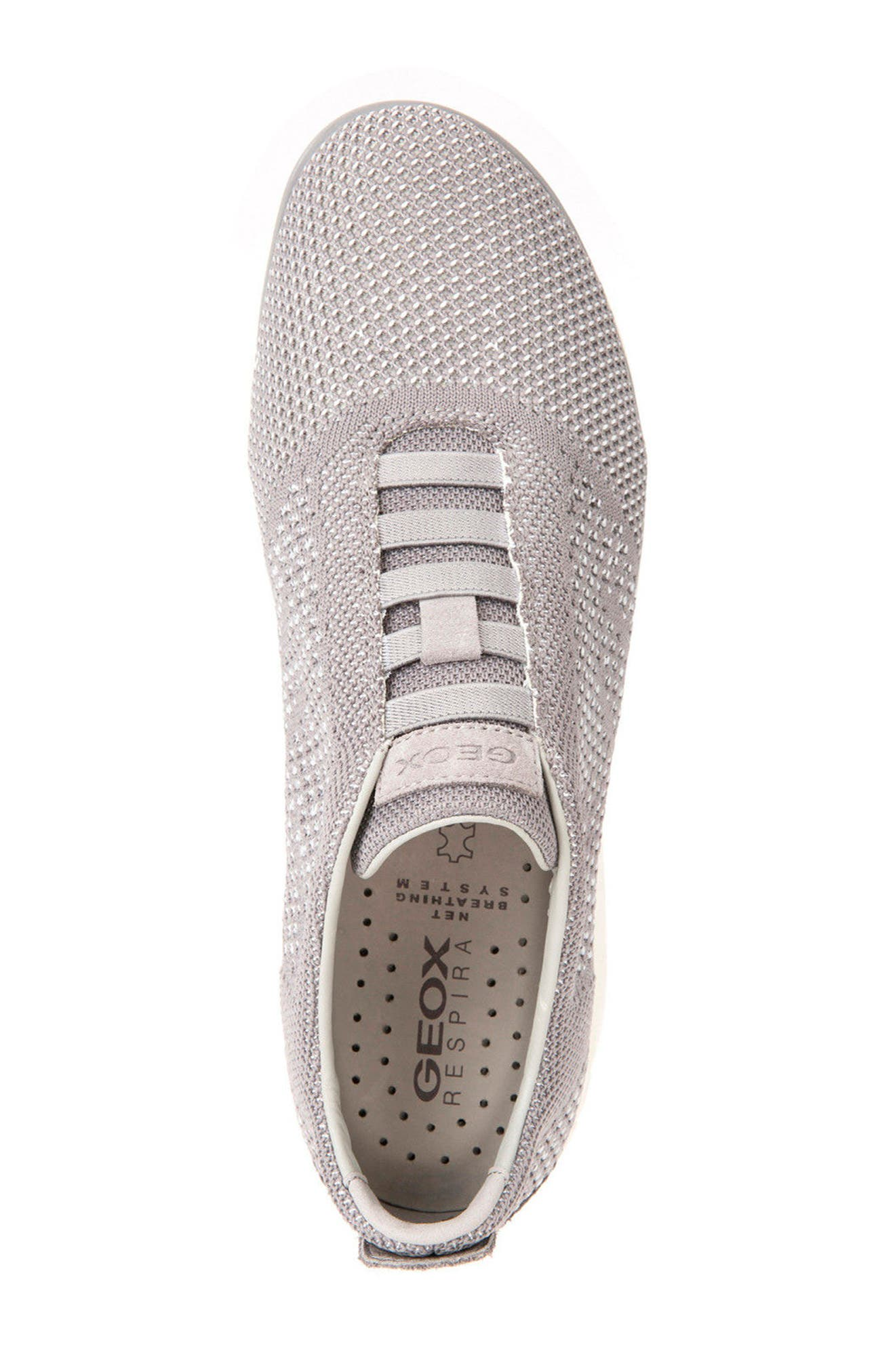 Nebula 42 Laceless Knit Sneaker,                             Alternate thumbnail 5, color,                             STONE/ WHITE