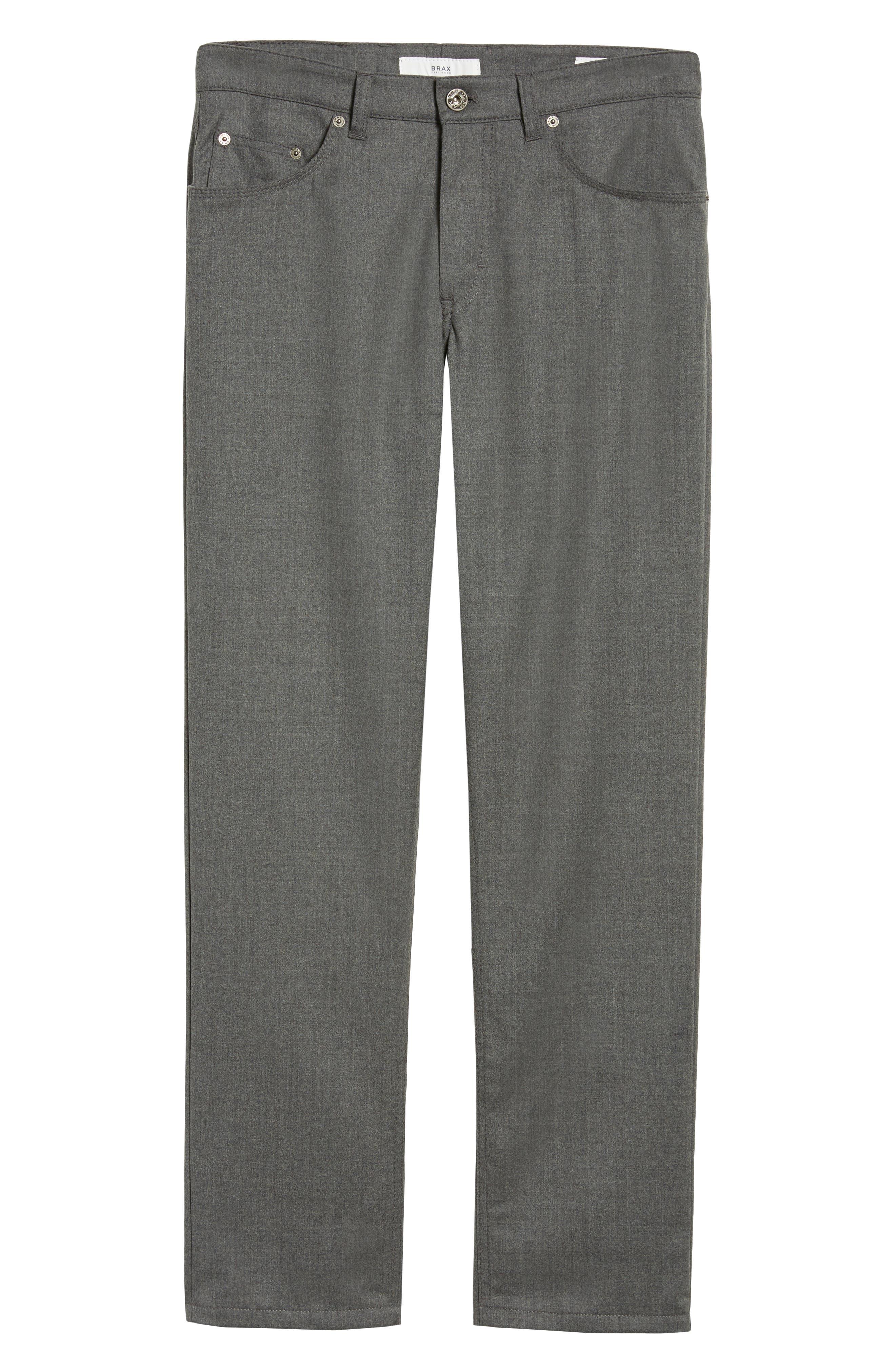 Enrico Five-Pocket Stretch Wool Trousers,                             Alternate thumbnail 6, color,                             GRAPHITE