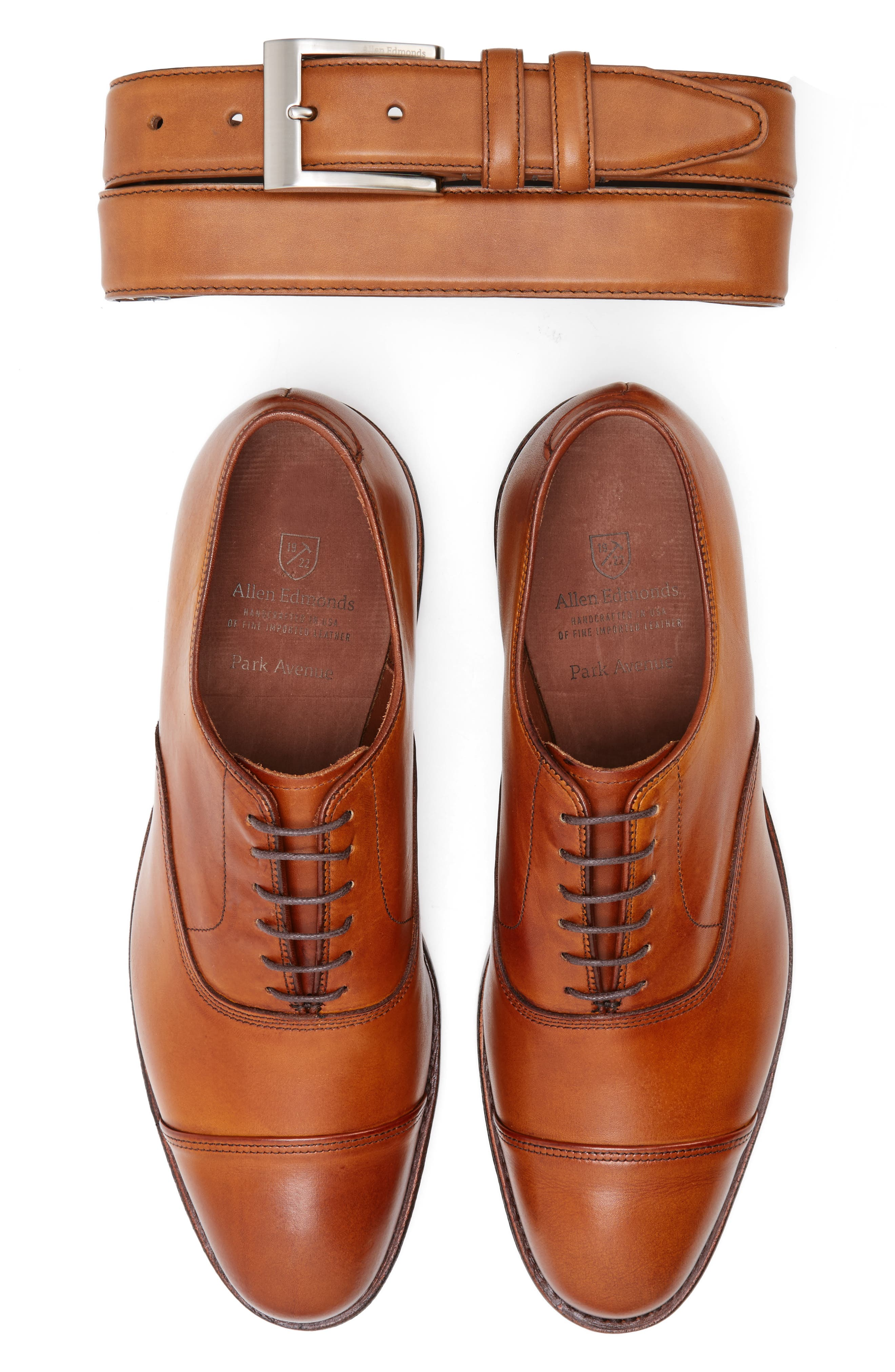 'Park Avenue' Cap Toe Oxford,                             Alternate thumbnail 2, color,                             WALNUT