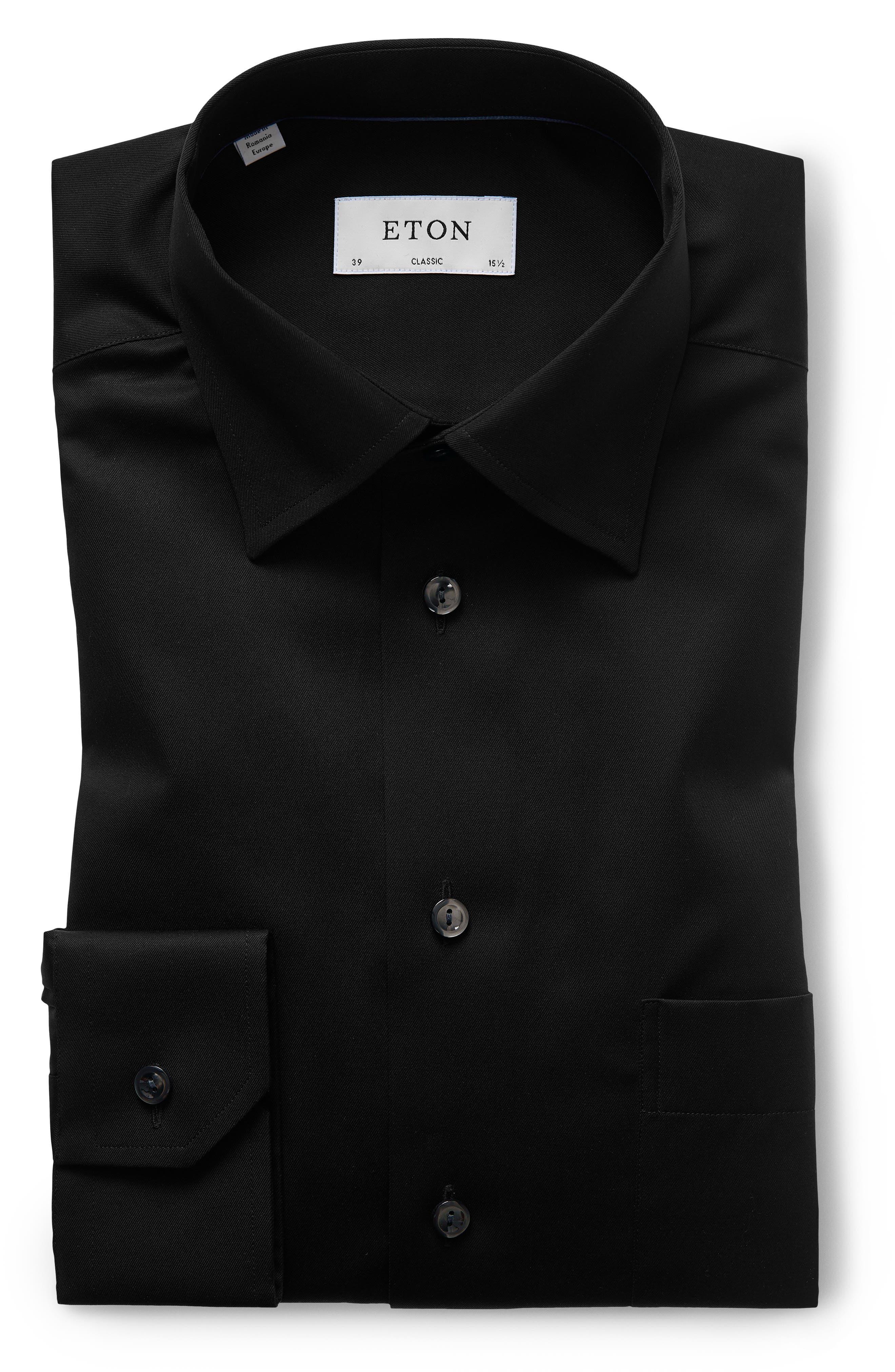 Classic Fit Twill Dress Shirt,                             Alternate thumbnail 3, color,                             001