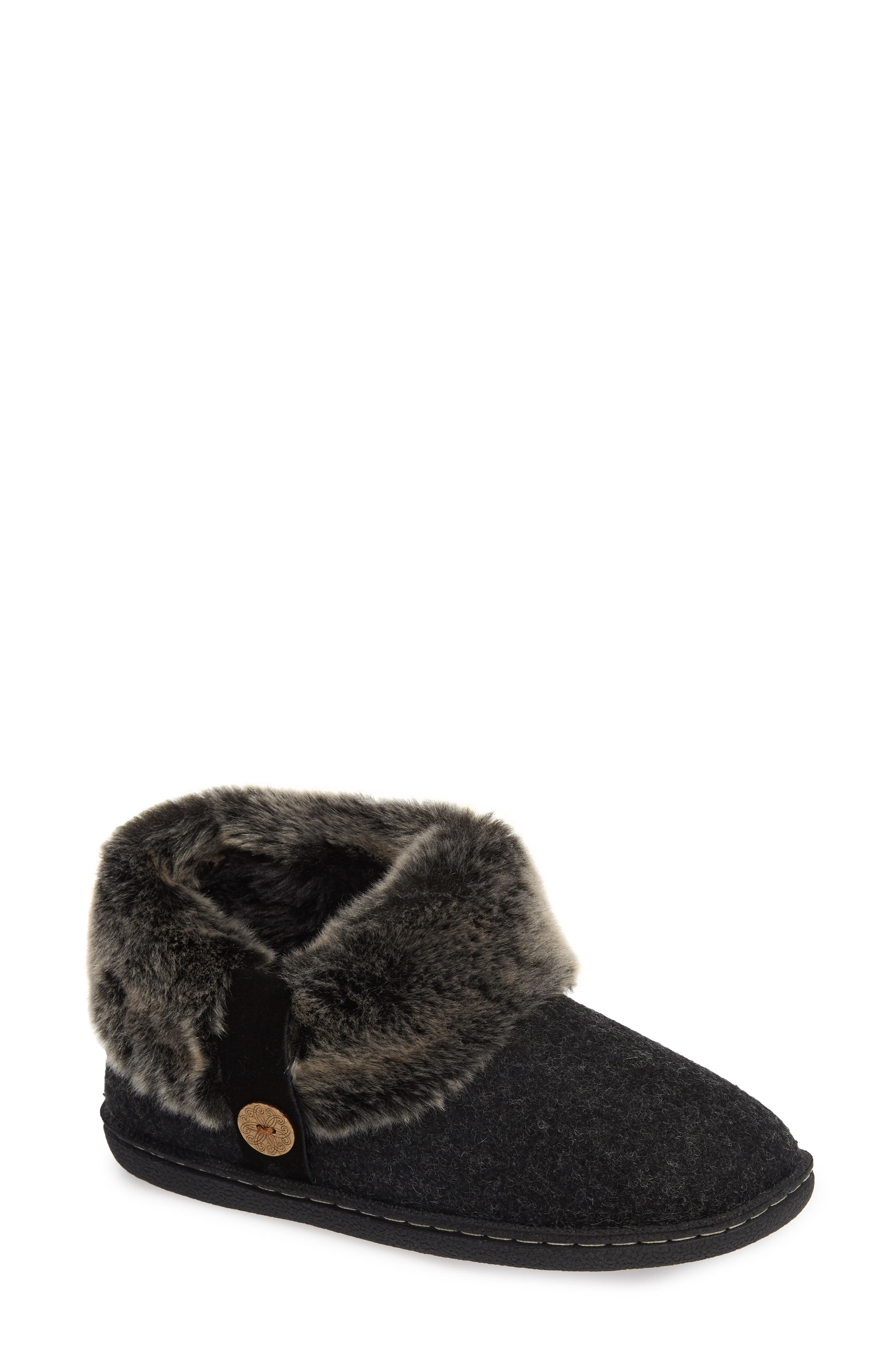 Grand Lodge Slipper,                         Main,                         color, BLACK WOOL