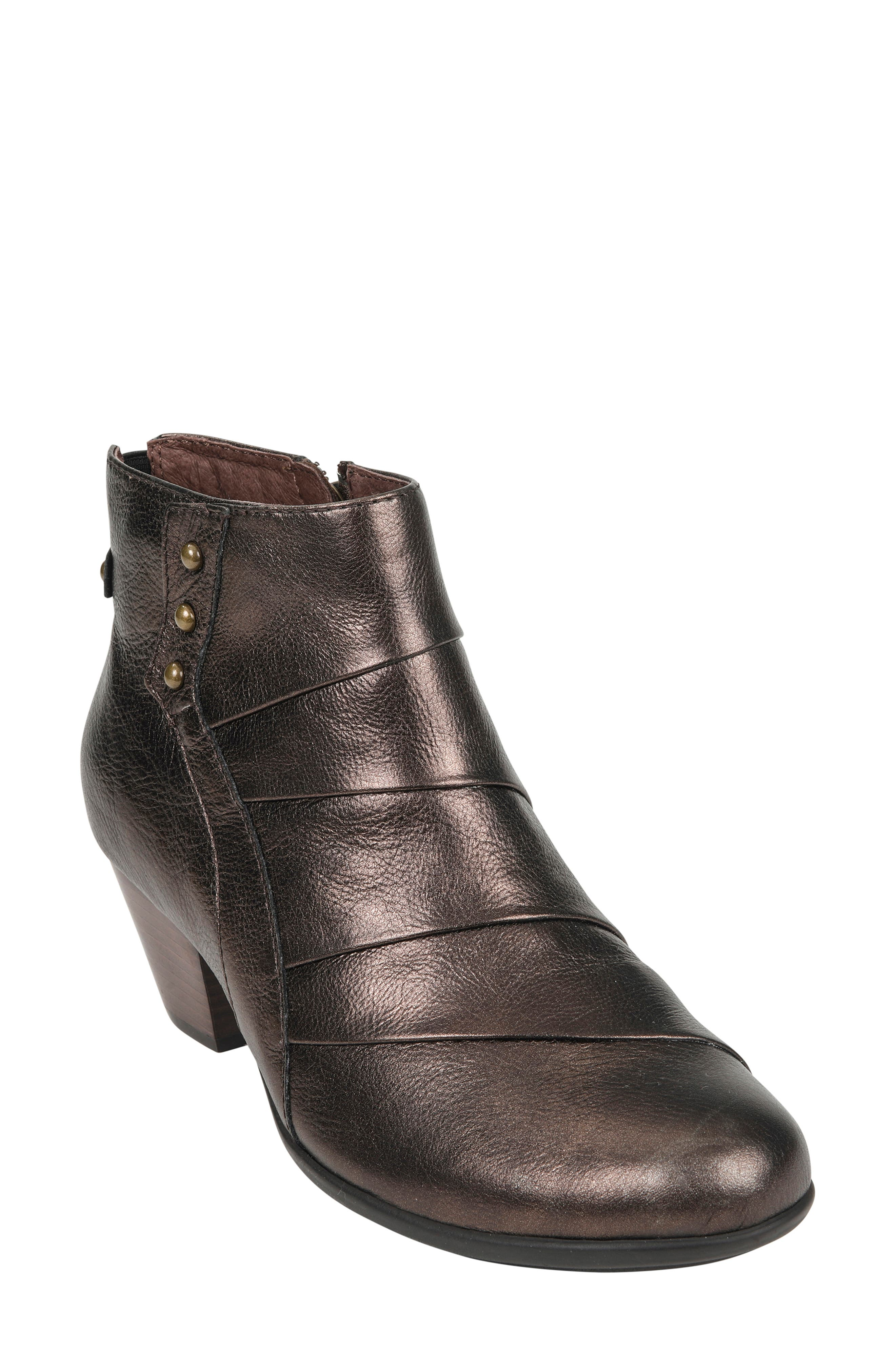Hope Bootie,                         Main,                         color, BRONZE LEATHER