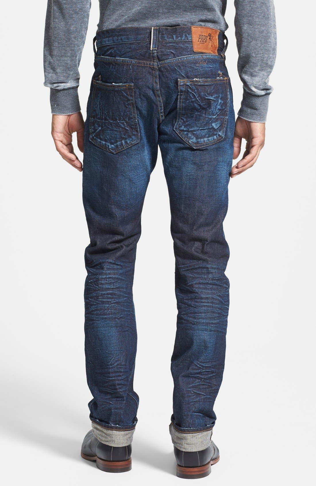 'Demon' Slim Straight Leg Selvedge Jeans,                             Alternate thumbnail 3, color,                             488