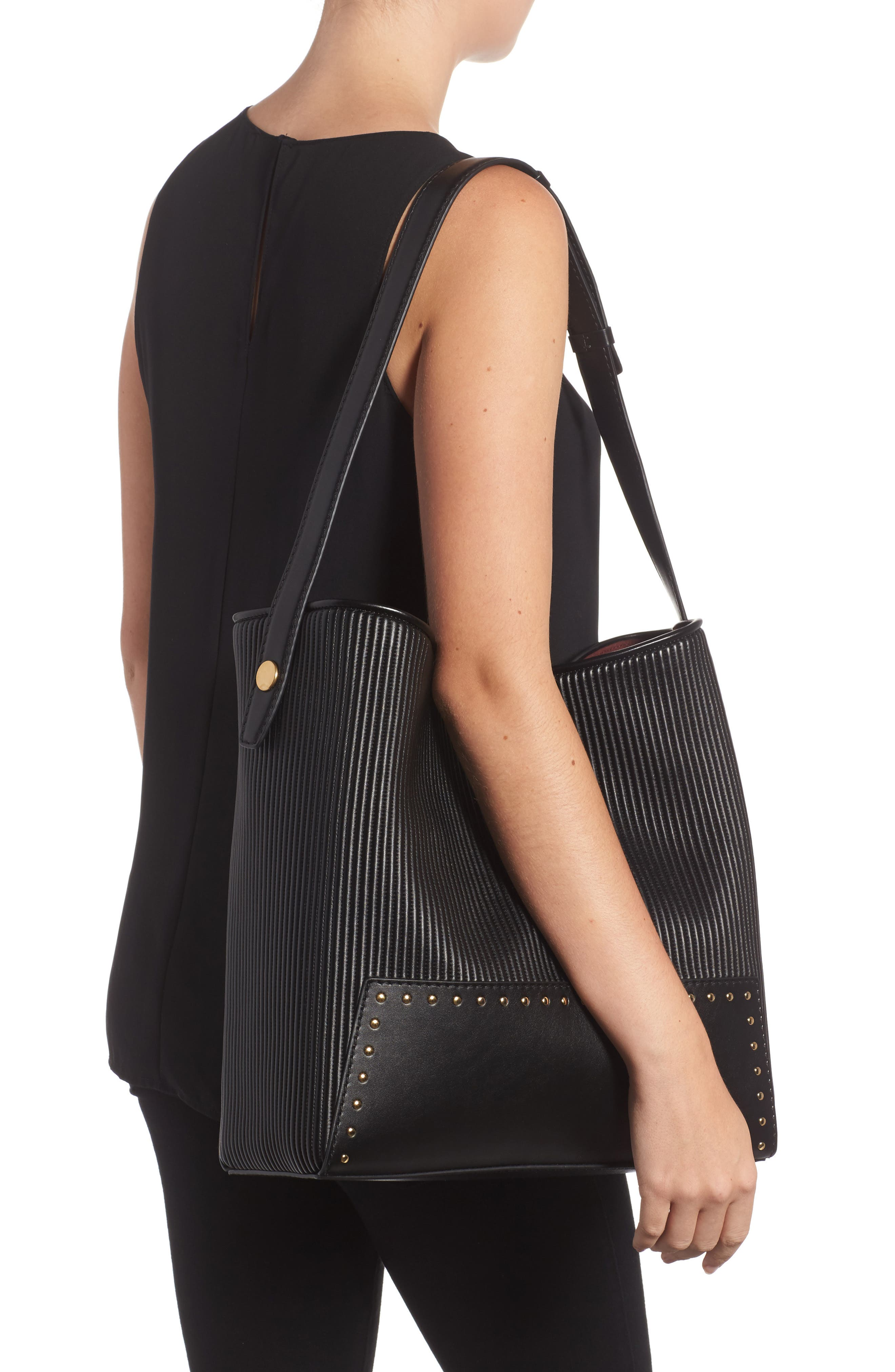Small Alter Quilted Hobo,                             Alternate thumbnail 2, color,                             001