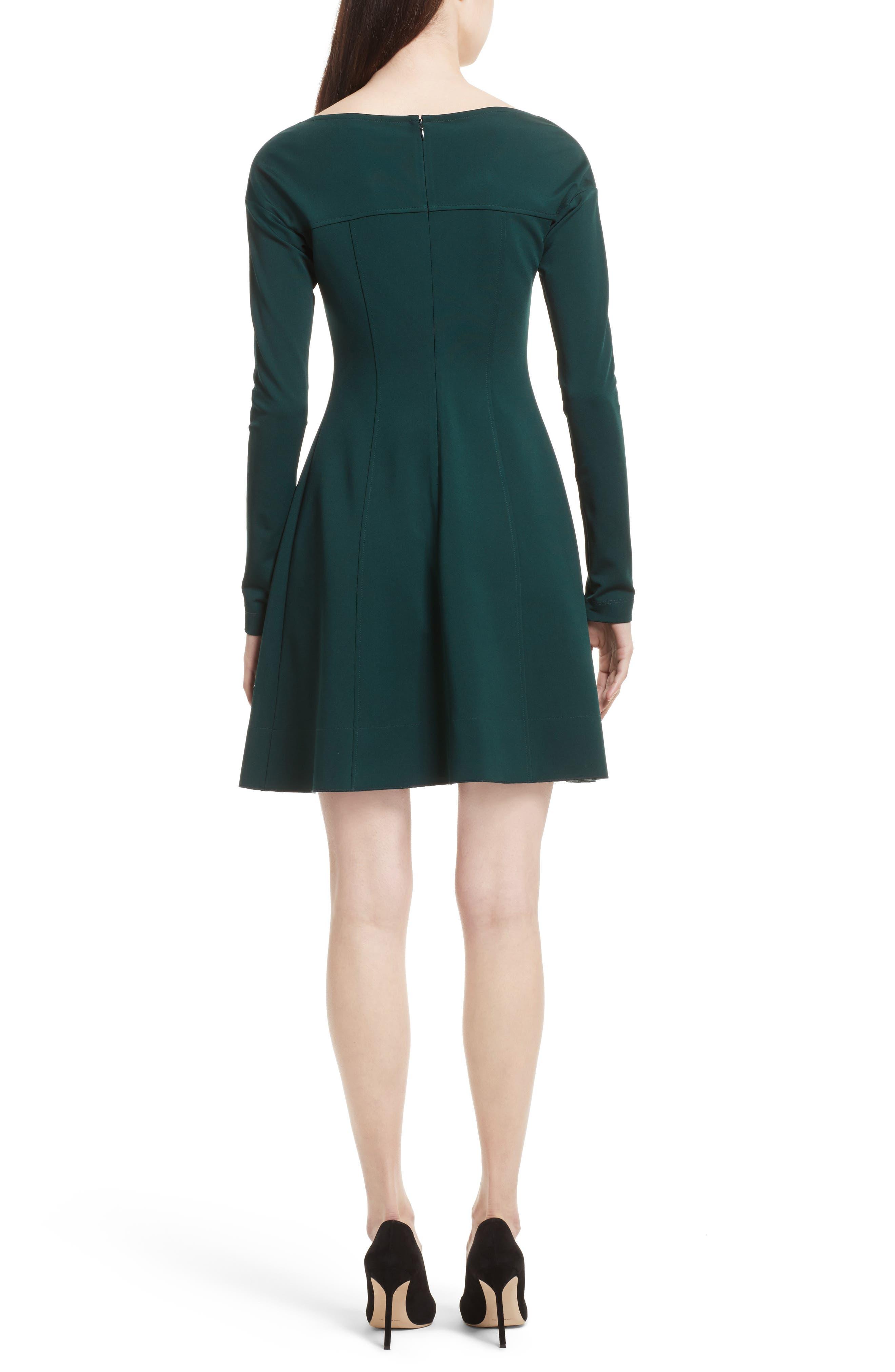 Valentina Scuba Knit A-Line Dress,                             Alternate thumbnail 4, color,