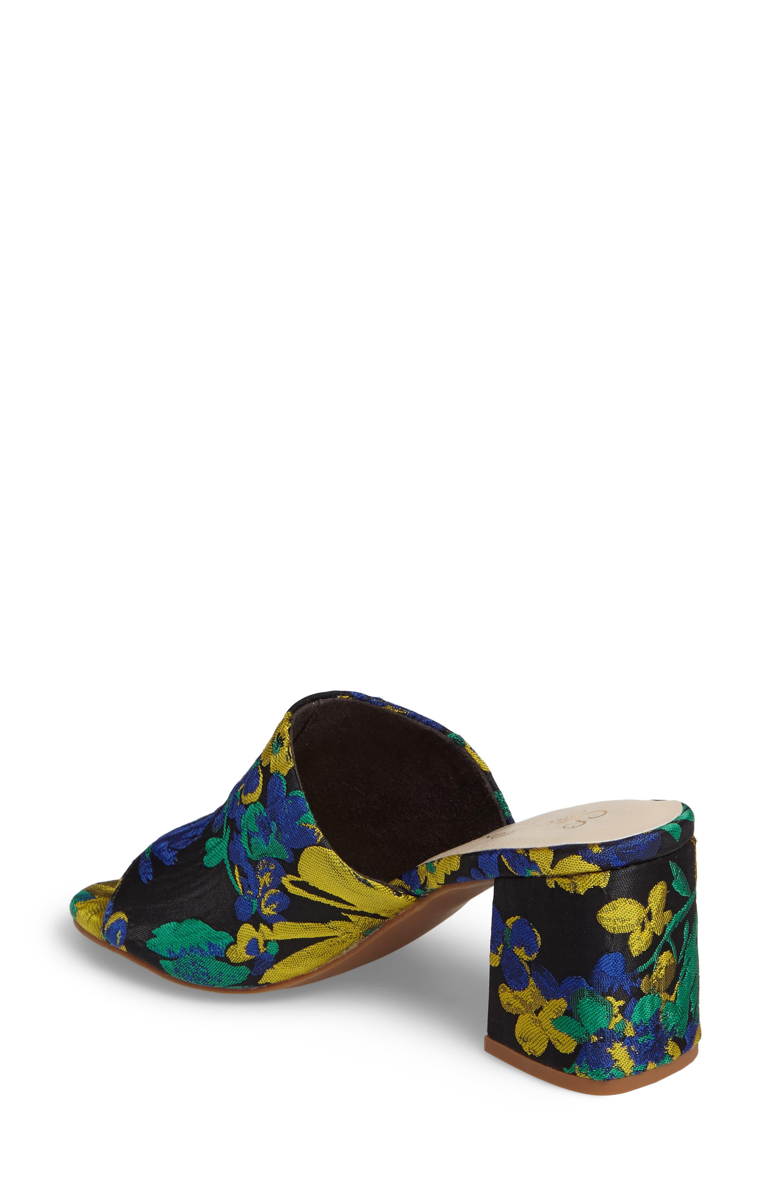 Commute Floral Flared Heel Sandal,                             Alternate thumbnail 2, color,                             002