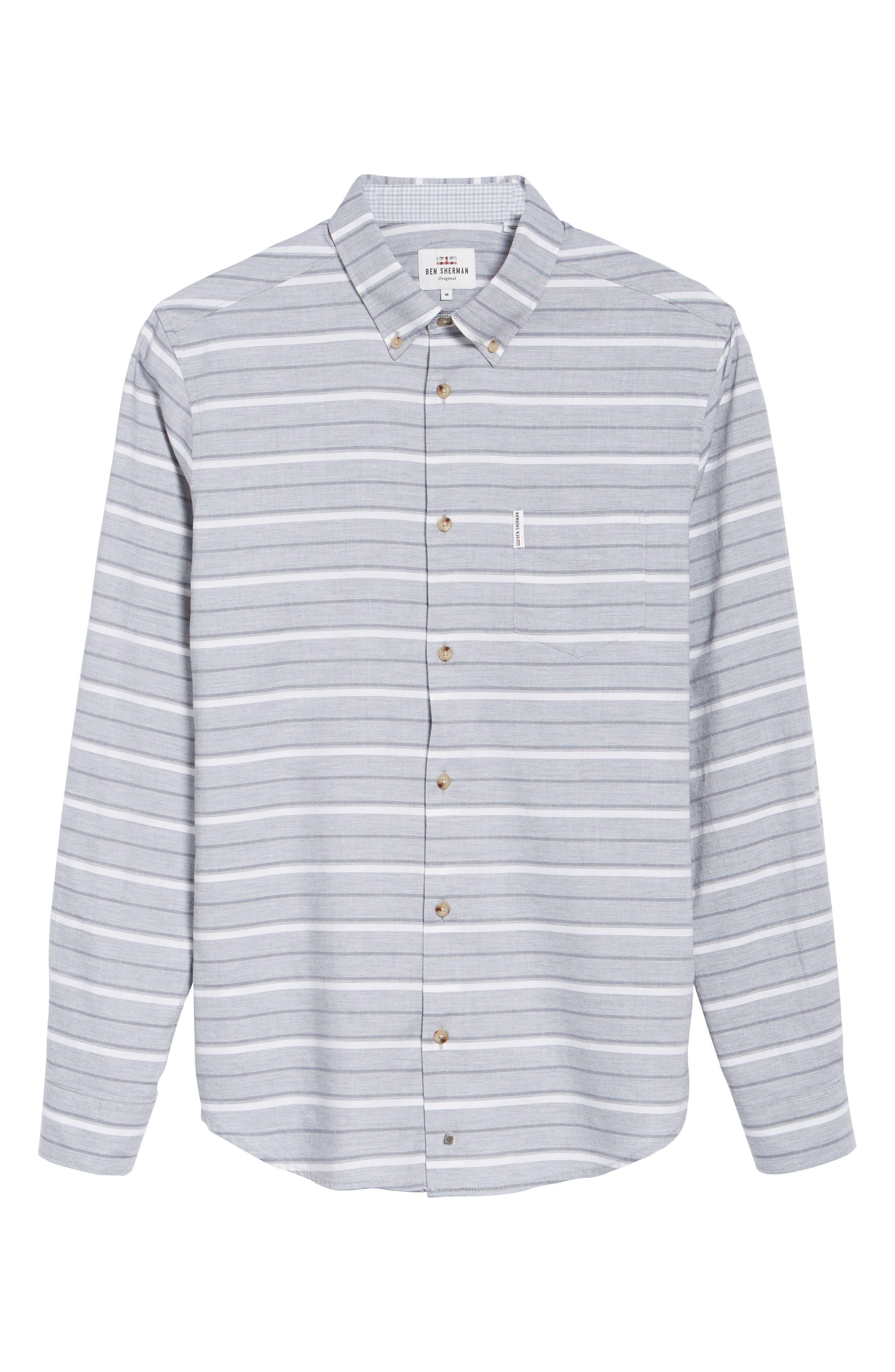 Tipping Horizontal Stripe Shirt,                             Alternate thumbnail 6, color,                             020