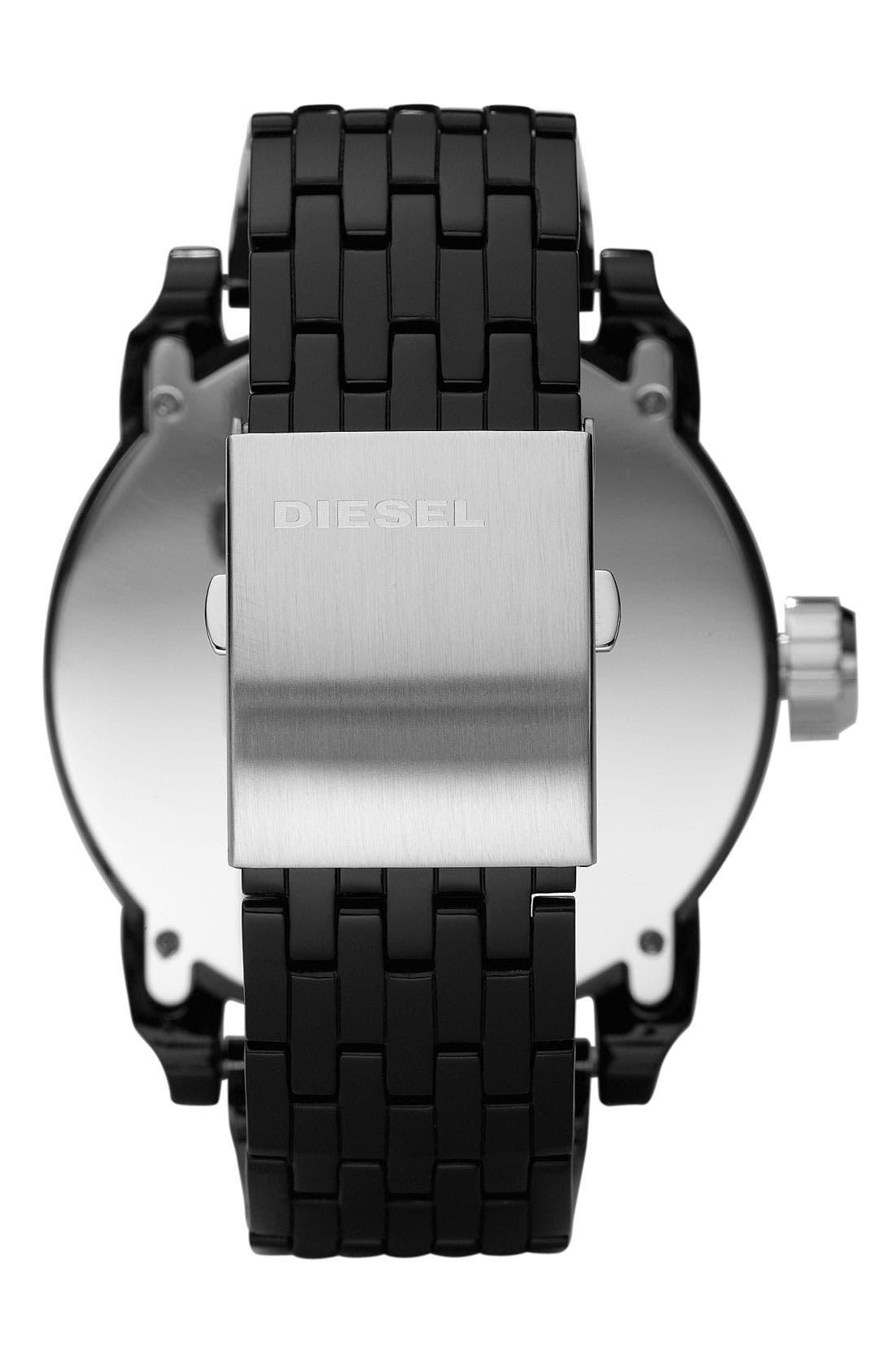 'Franchise' Oversized Round Bracelet Watch, 59mm x 67mm,                             Alternate thumbnail 3, color,                             001