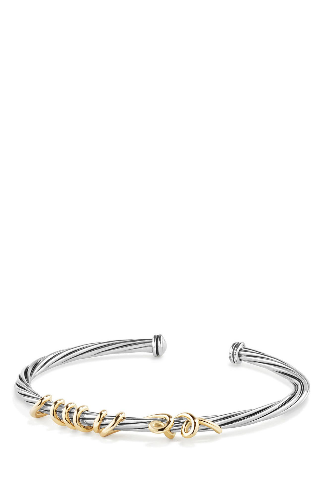 Whispers Te Amo Bracelet,                         Main,                         color, SILVER/ GOLD