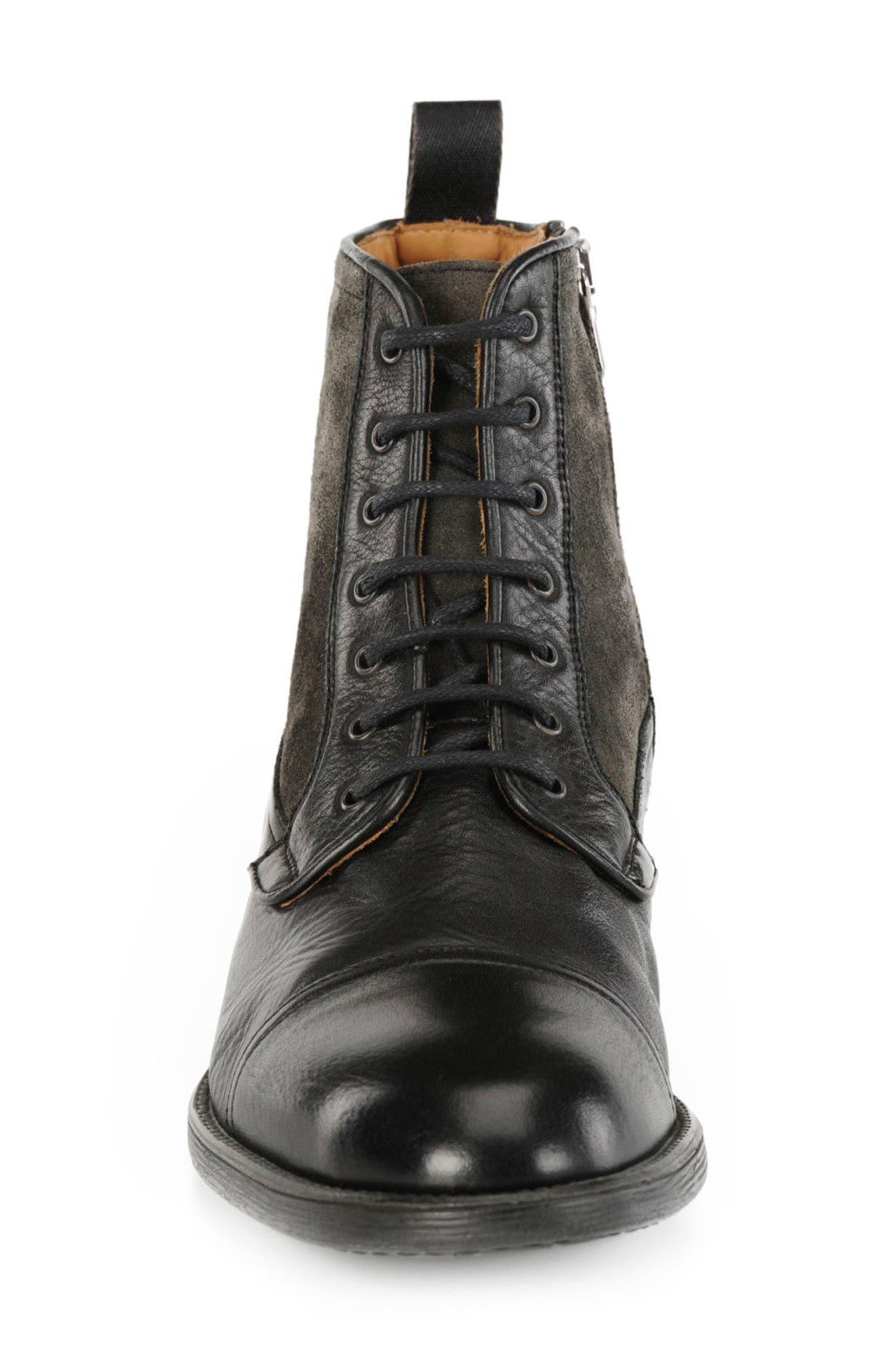 Jaylon 12 Cap-Toe Boot,                             Alternate thumbnail 4, color,                             001