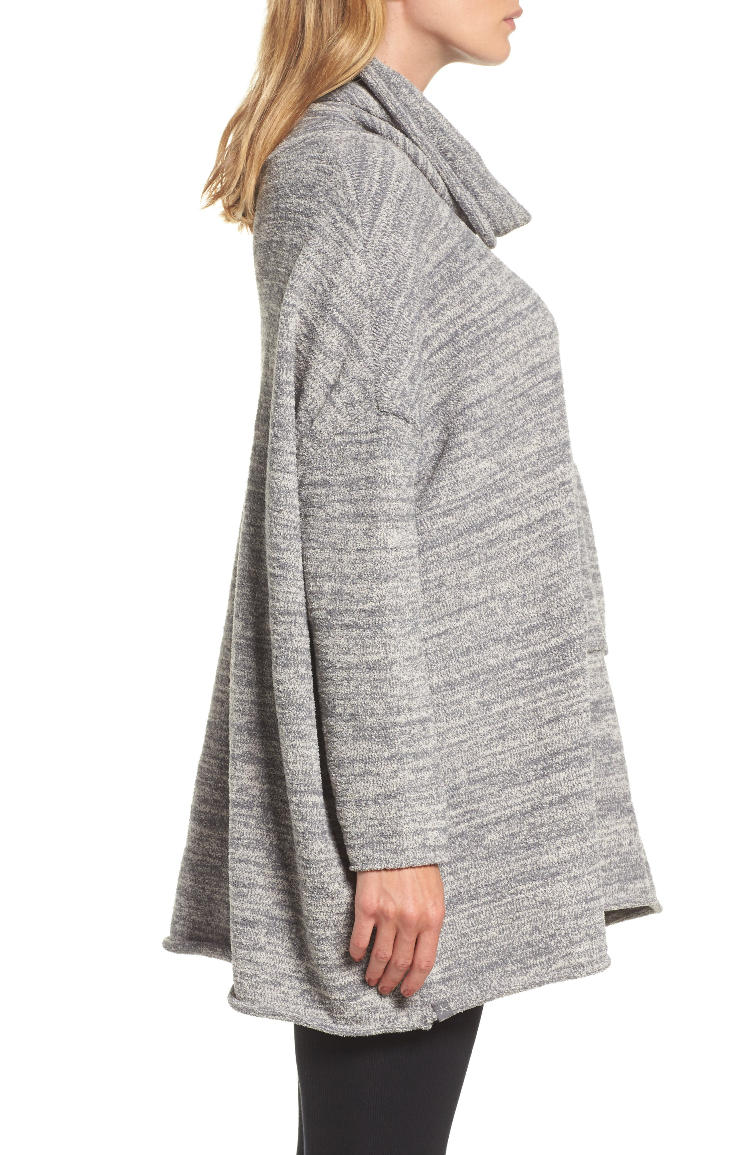 Cozychic<sup>®</sup> Lounge Pullover,                             Alternate thumbnail 3, color,                             GRAPHITE/ STONE HEATHERED