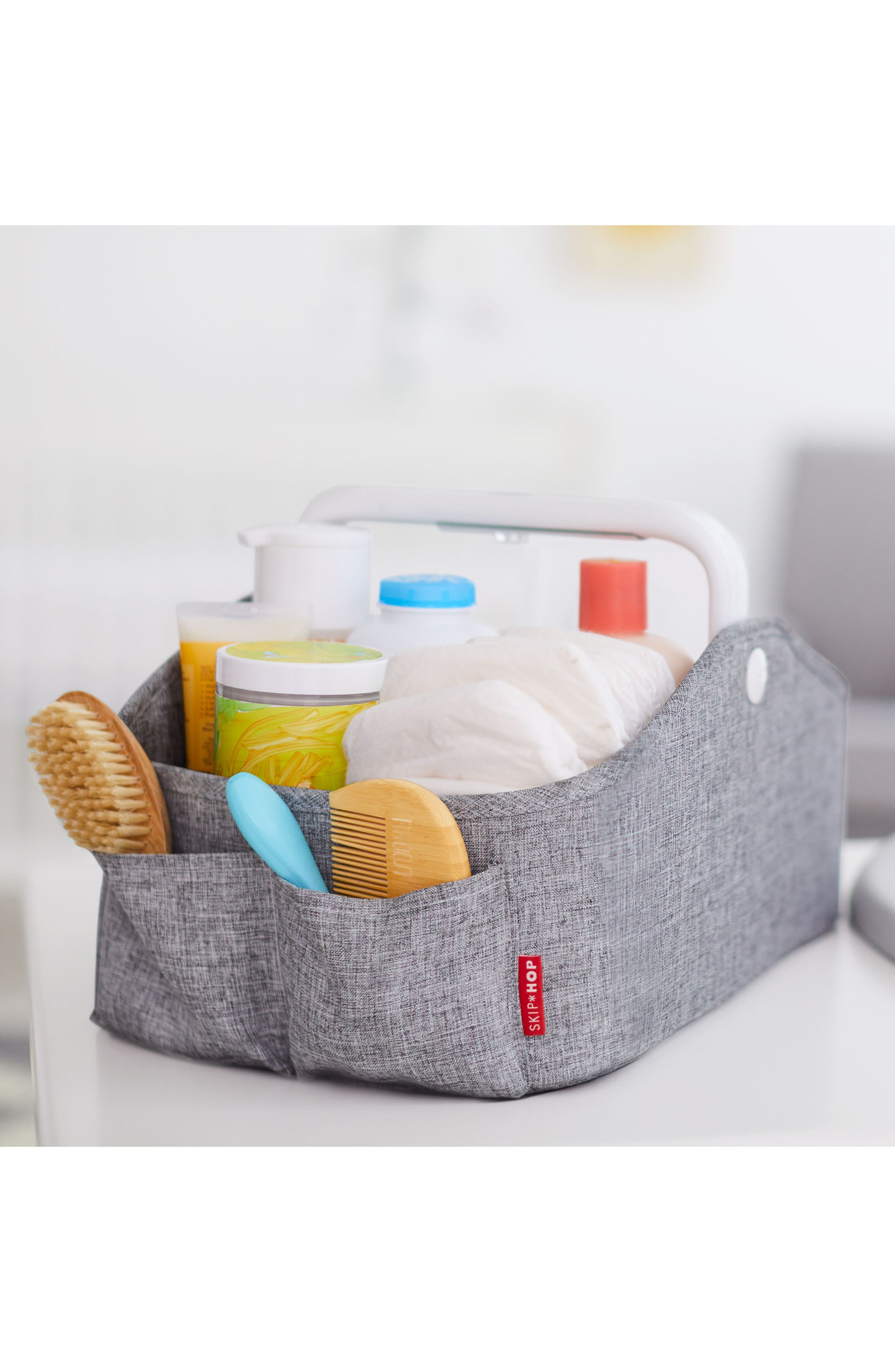 Light Up Diaper Caddy,                             Alternate thumbnail 5, color,                             HEATHER GREY