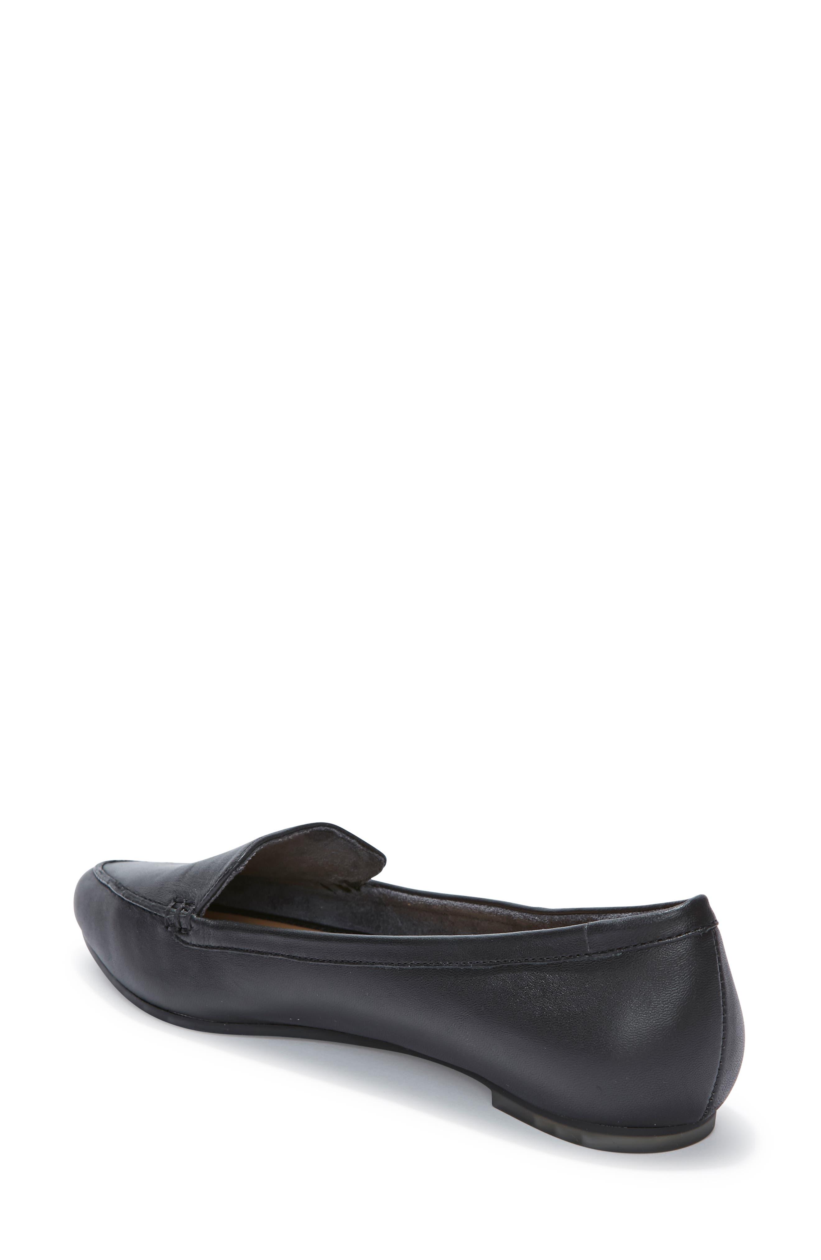 Audra Loafer Flat,                             Alternate thumbnail 2, color,                             BLACK/ BLACK LEATHER