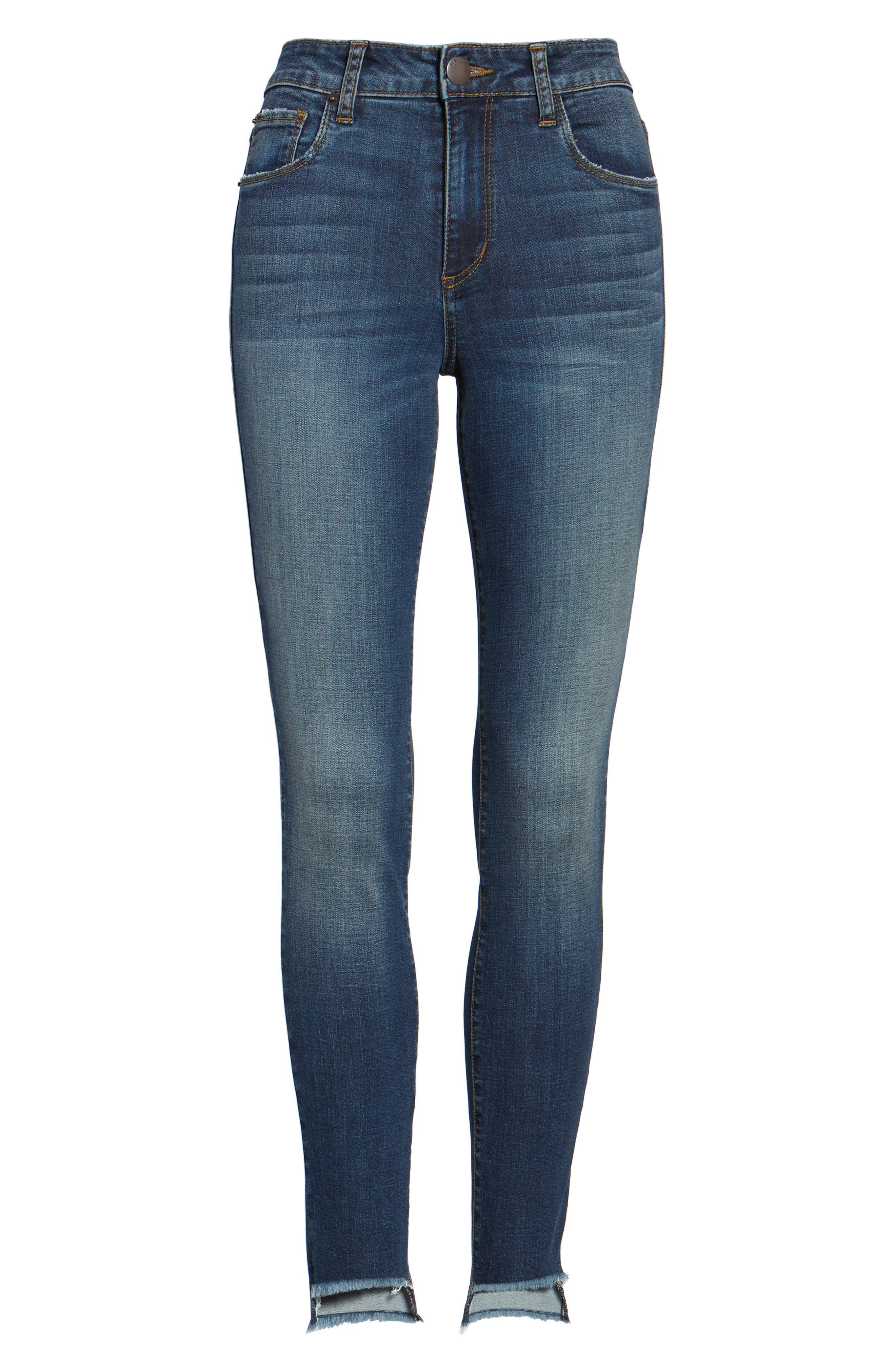 Ellie Step Hem Skinny Jeans,                             Alternate thumbnail 6, color,                             400
