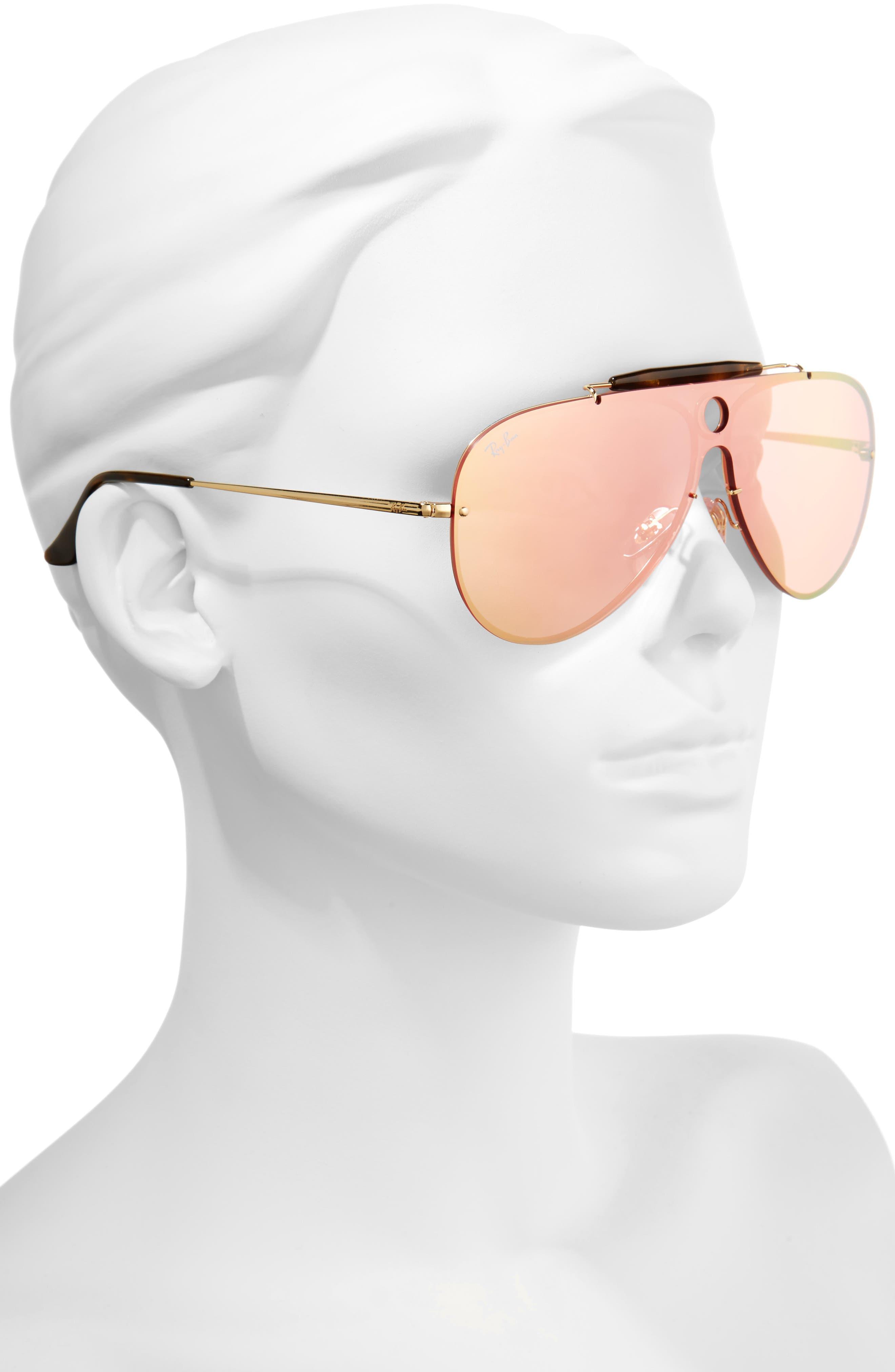Aviator Shield Sunglasses,                             Alternate thumbnail 6, color,
