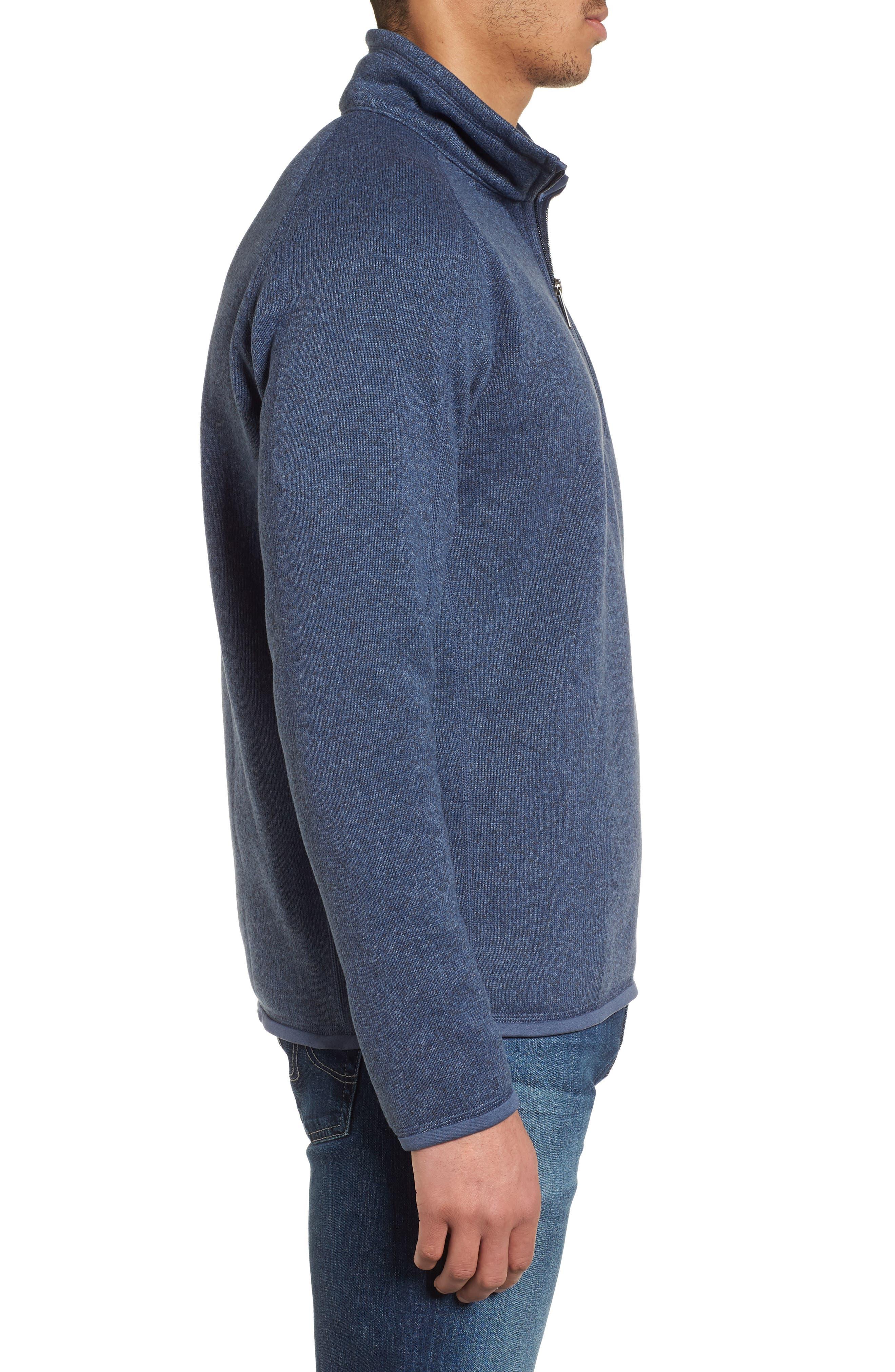 Better Sweater Quarter Zip Pullover,                             Alternate thumbnail 3, color,                             DOLOMITE BLUE