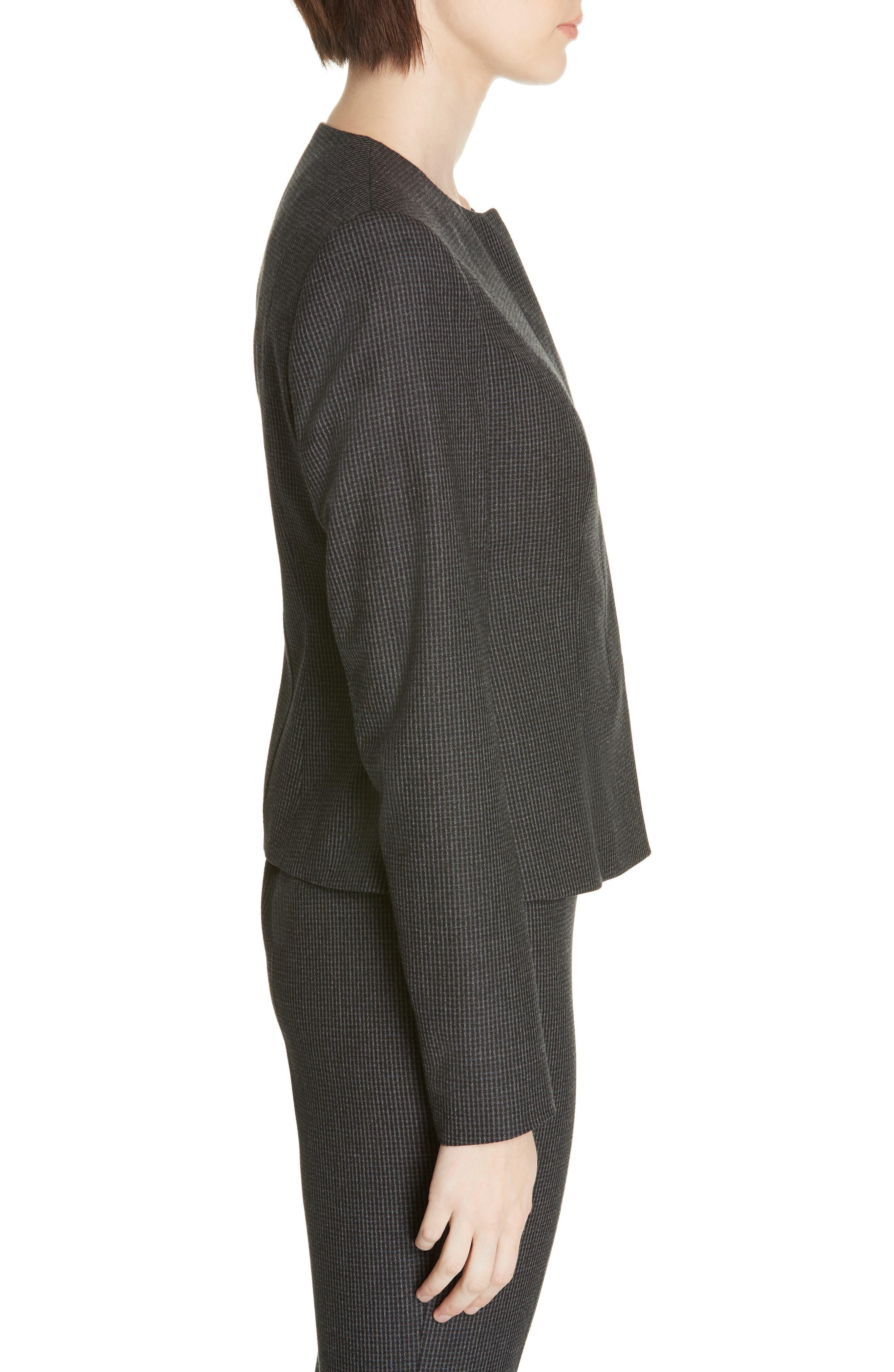 Javilla Wool Suit Jacket,                             Alternate thumbnail 3, color,                             CHARCOAL FANTASY