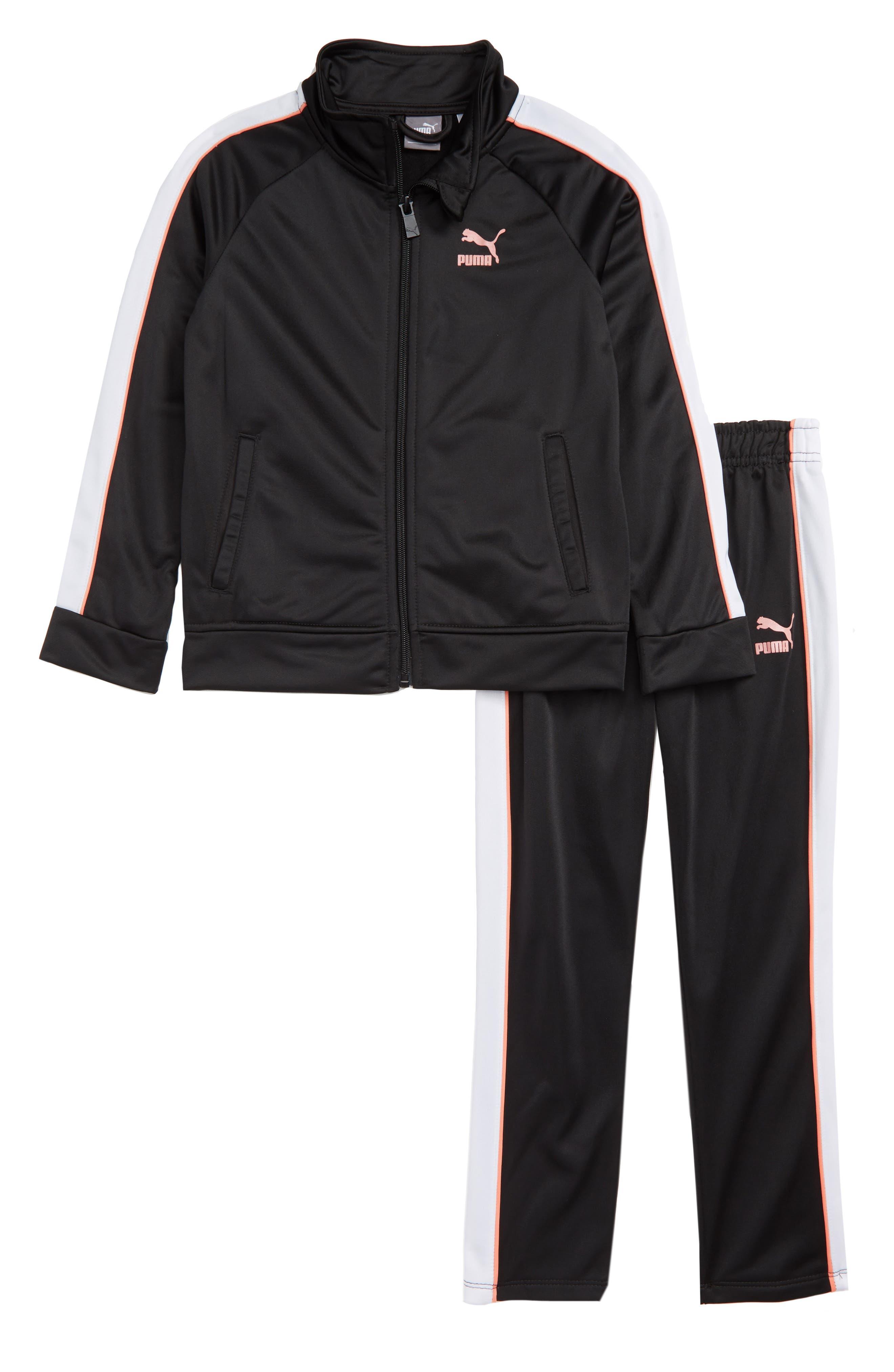 Track Jacket and Pant Set,                             Main thumbnail 1, color,                             PUMA BLACK