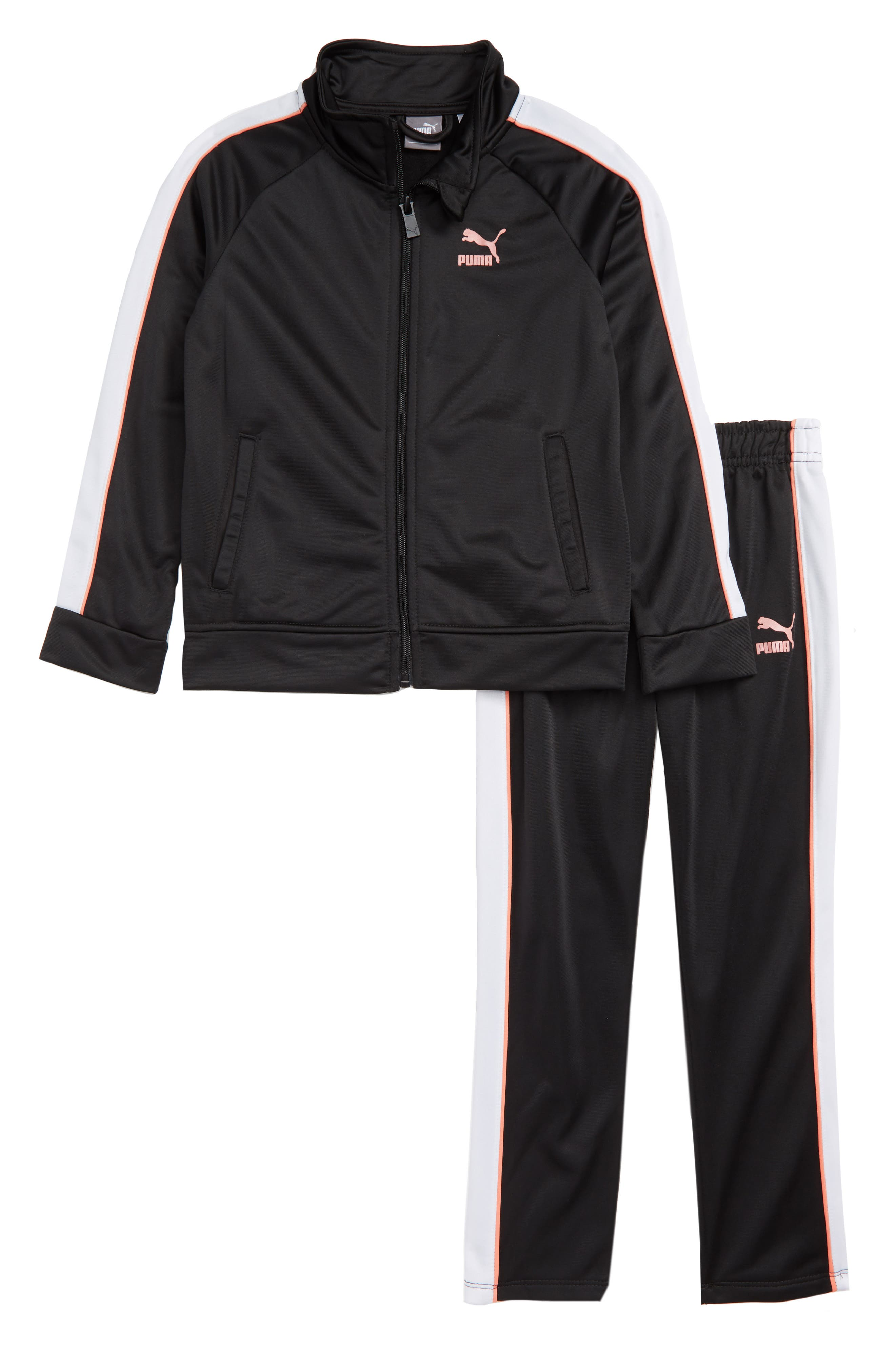 Track Jacket and Pant Set,                         Main,                         color, PUMA BLACK