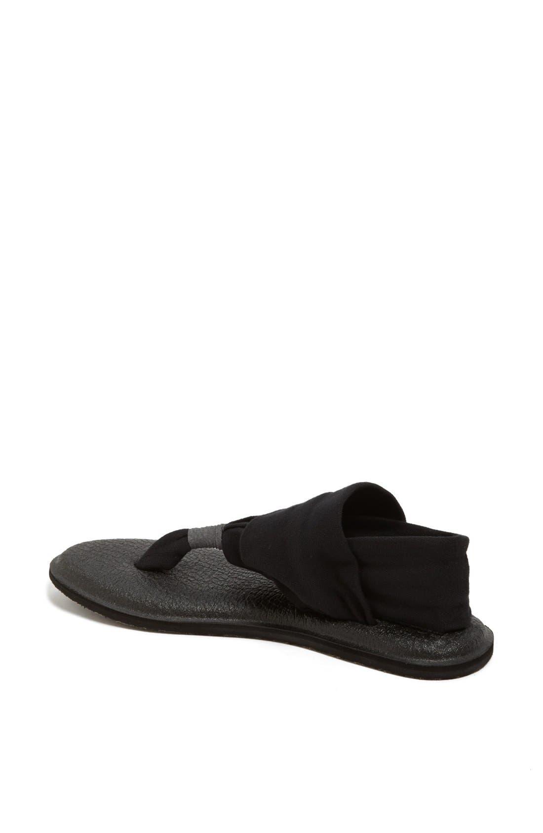 'Yoga Sling 2' Sandal,                             Alternate thumbnail 3, color,                             BLACK