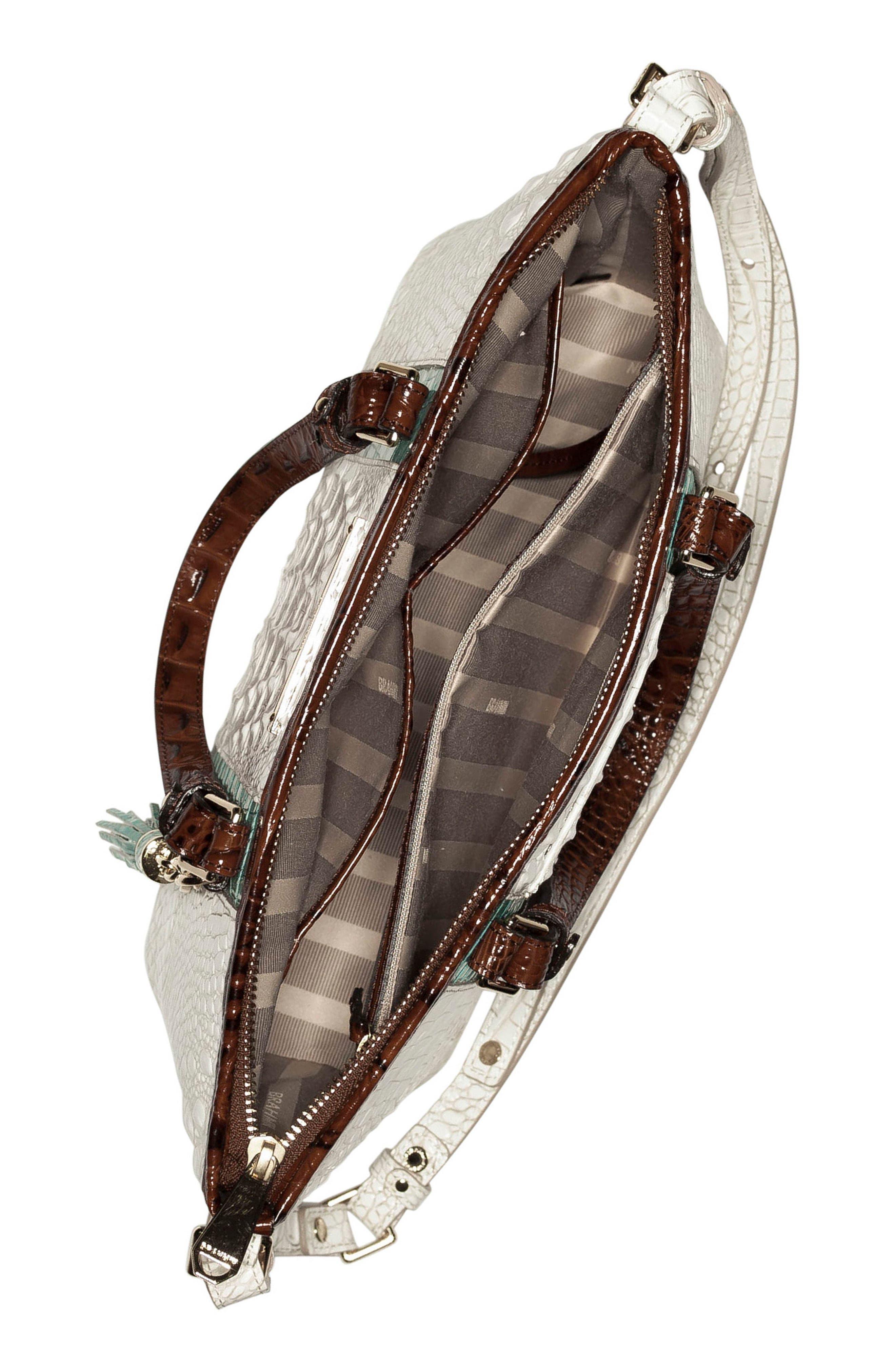 Mini Asher Leather Tote,                             Alternate thumbnail 3, color,                             100