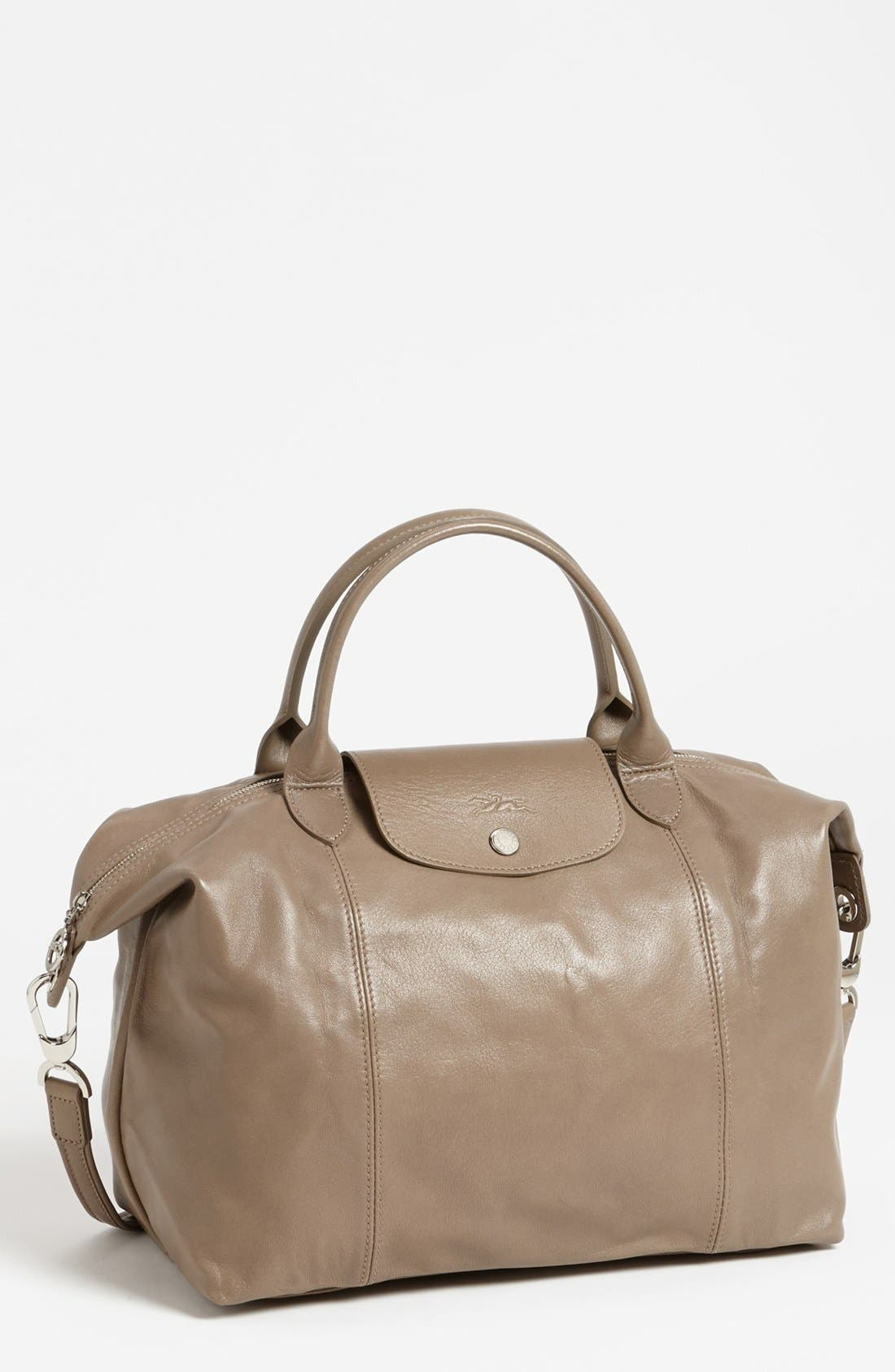Medium 'Le Pliage Cuir' Leather Top Handle Tote,                             Main thumbnail 12, color,