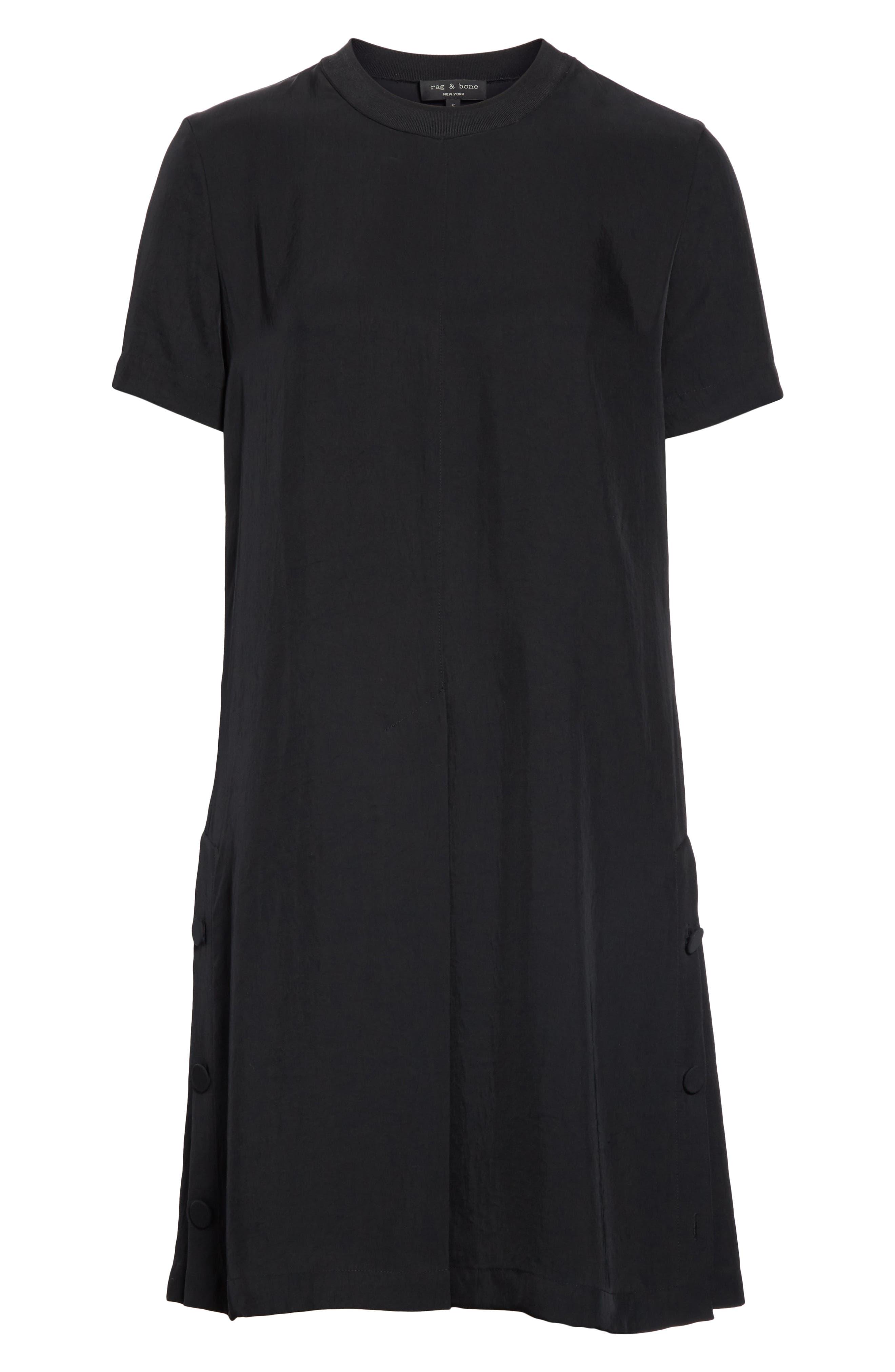 RAG & BONE,                             Aiden T-Shirt Dress,                             Alternate thumbnail 7, color,                             BLACK