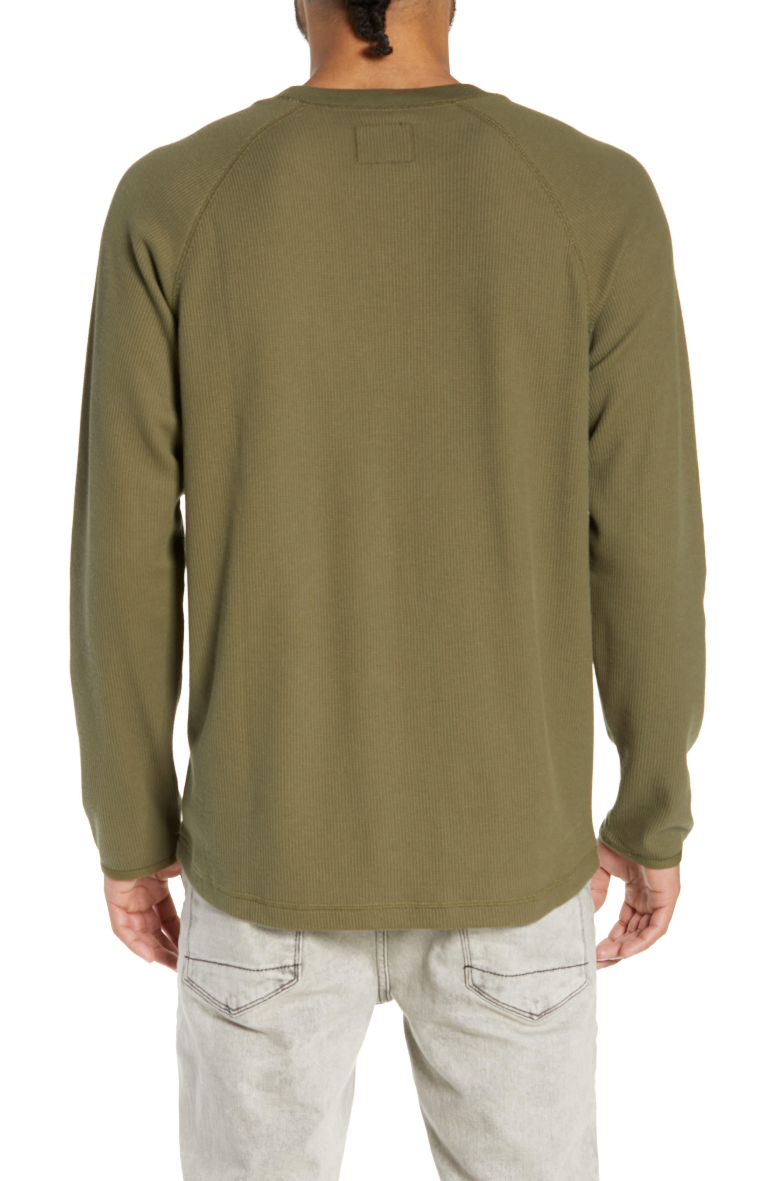 Leeward Thermal Long Sleeve T-Shirt,                             Alternate thumbnail 2, color,                             ROVER GREEN
