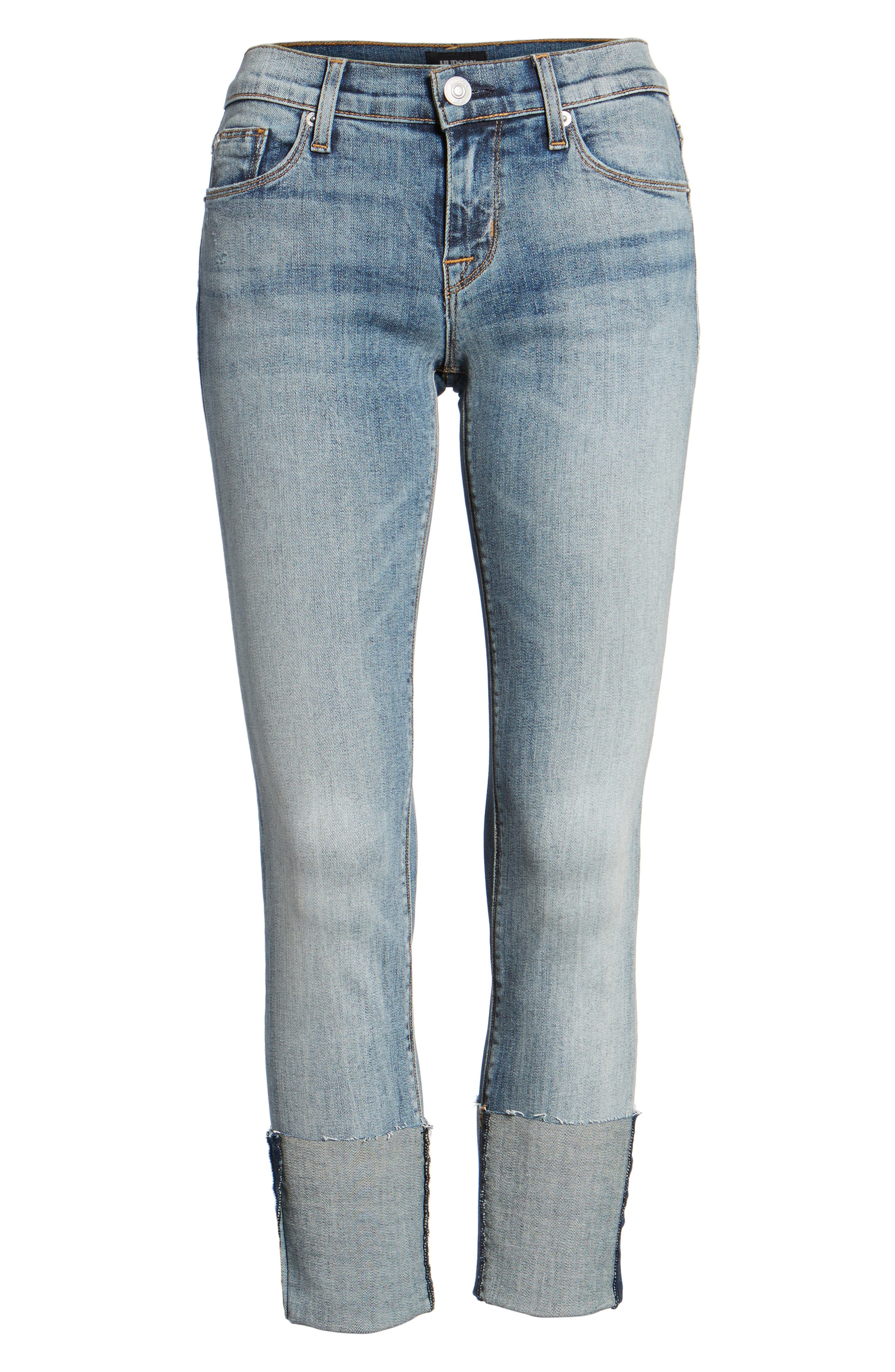Tally Cuffed Crop Skinny Jeans,                             Alternate thumbnail 18, color,