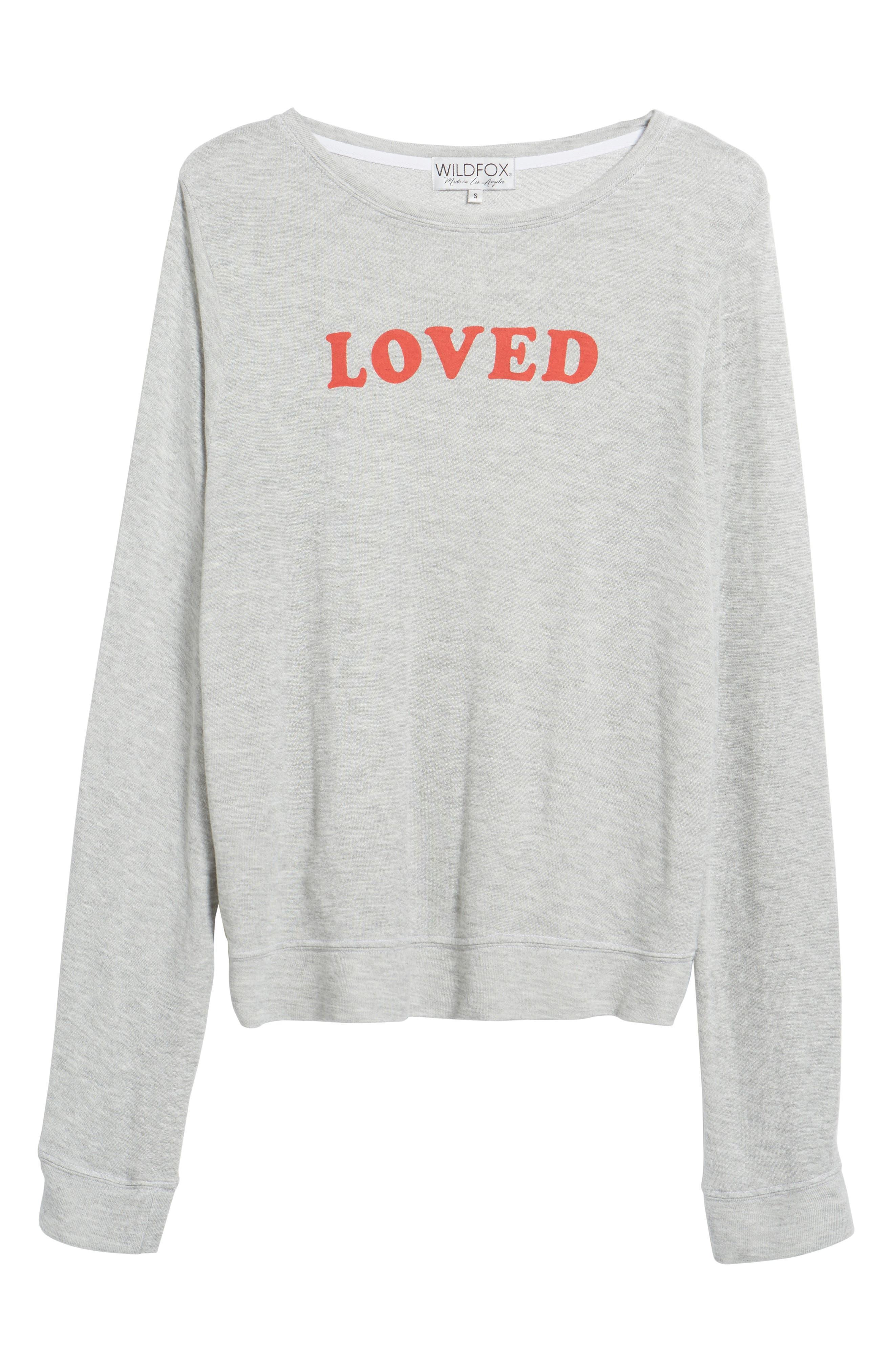 Loved Sweatshirt,                             Alternate thumbnail 6, color,                             020