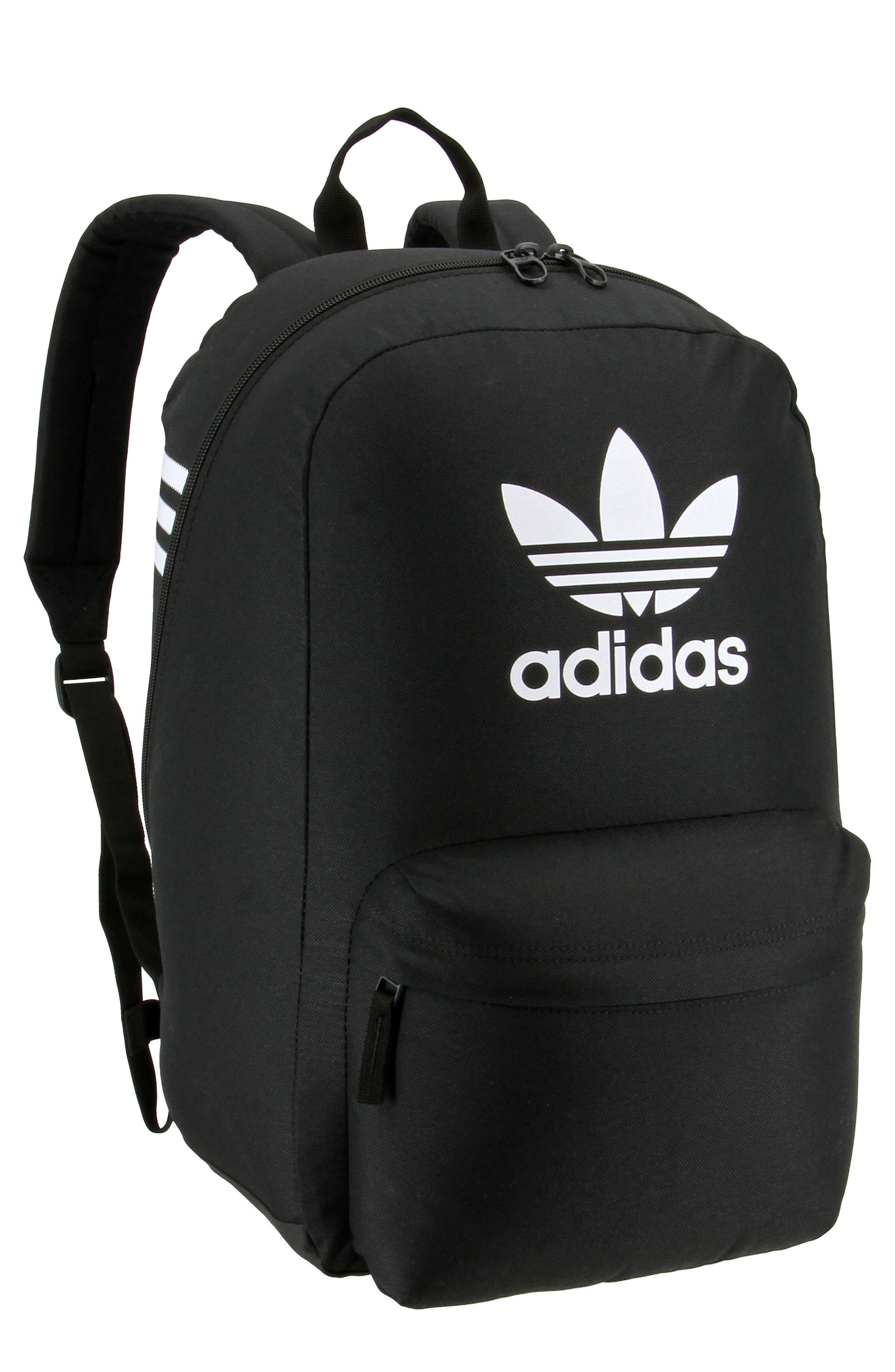 Originals Big Logo Backpack,                         Main,                         color, BLACK/ WHITE