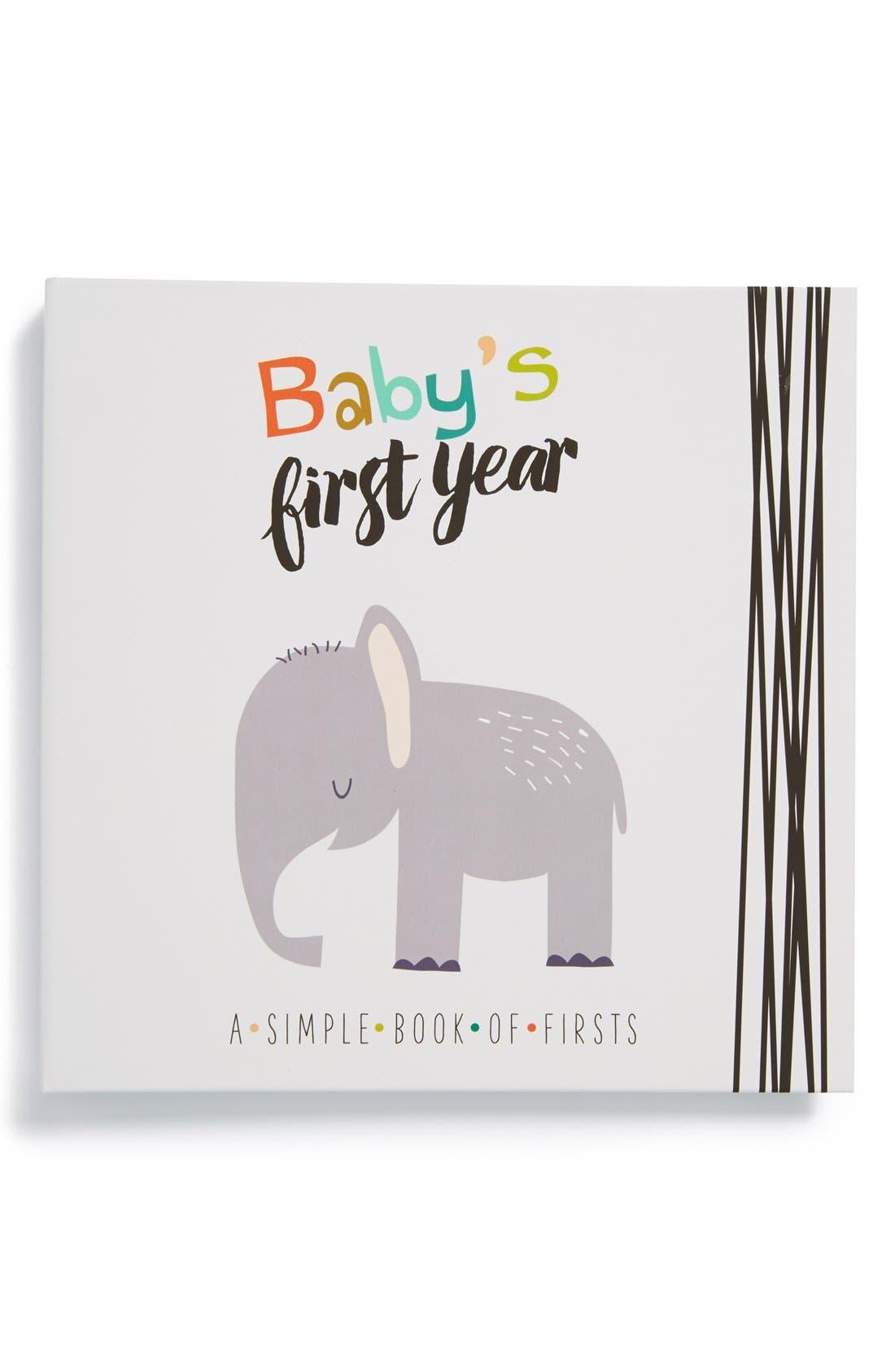 'Baby's First Year' Memory Book,                             Main thumbnail 1, color,                             GREY