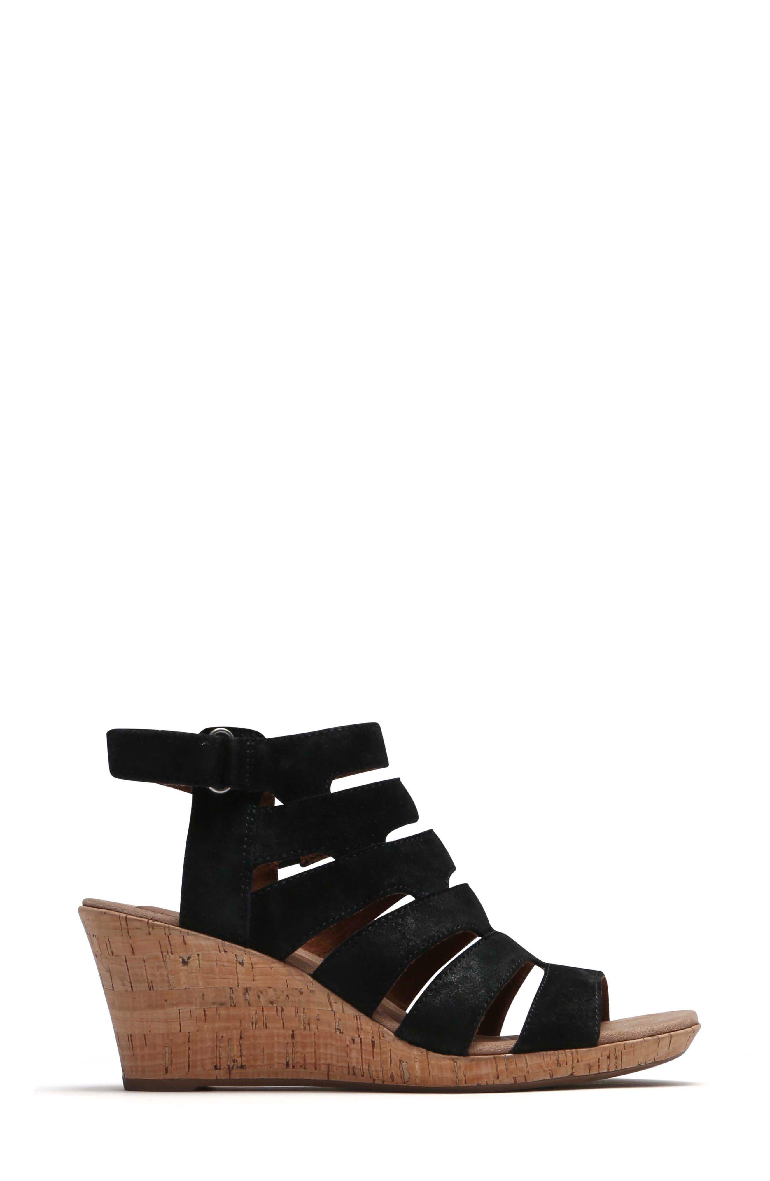 Janna Asymmetrical Sandal,                             Alternate thumbnail 3, color,                             001