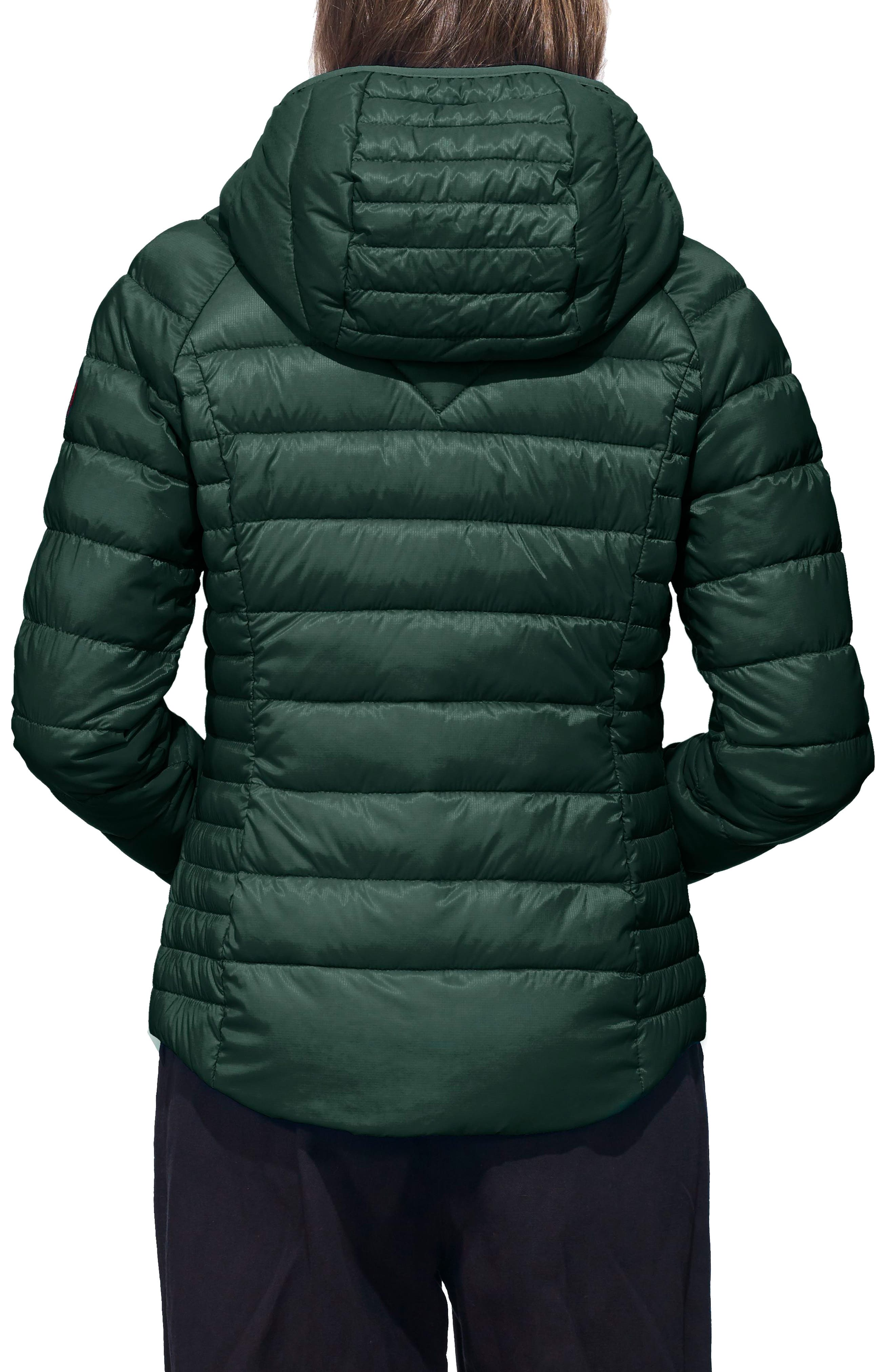 'Brookvale' Packable Hooded Quilted Down Jacket,                             Alternate thumbnail 2, color,                             SPRUCE/BLACK