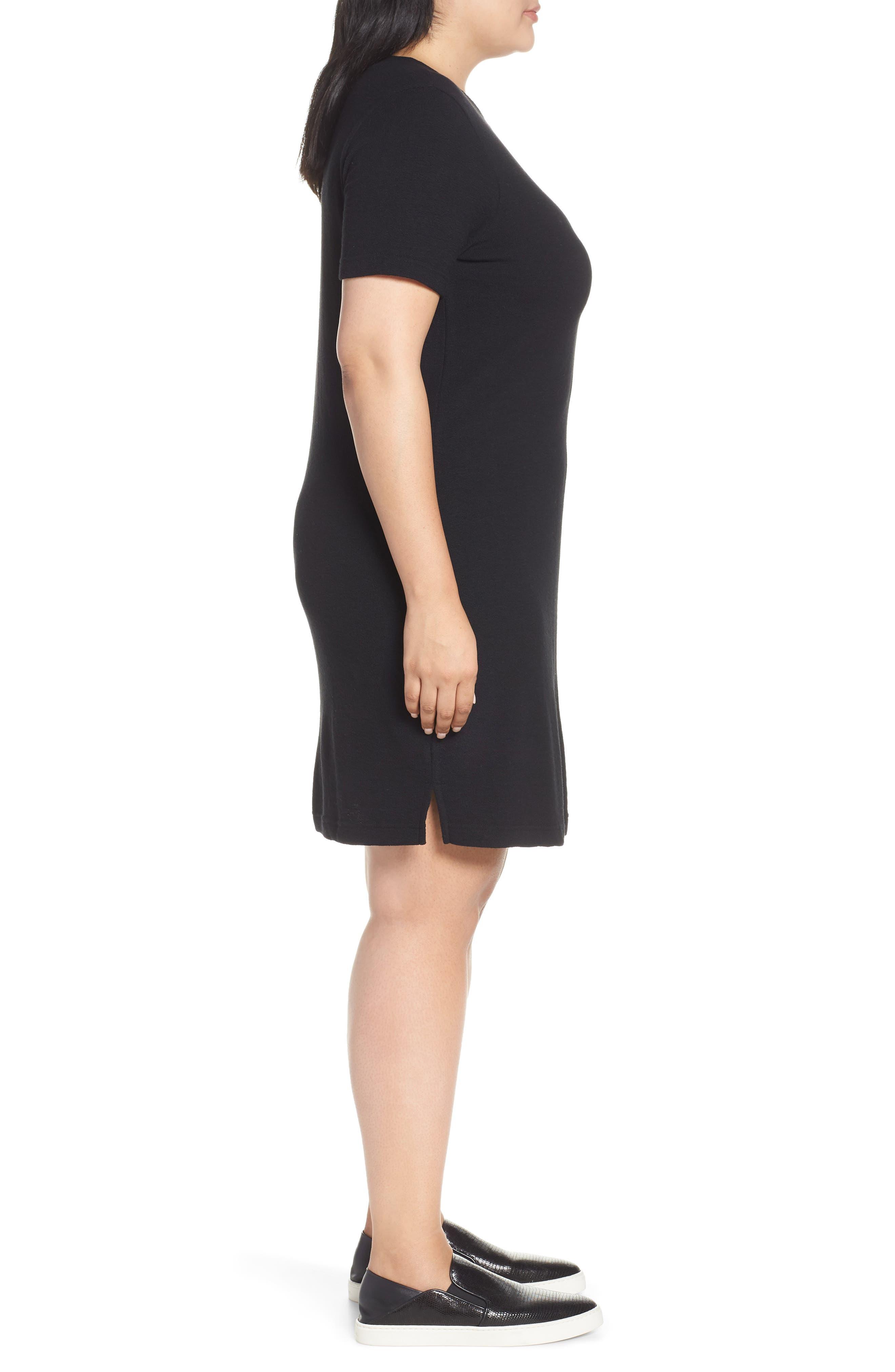 CASLON<SUP>®</SUP>,                             T-Shirt Dress,                             Alternate thumbnail 3, color,                             BLACK