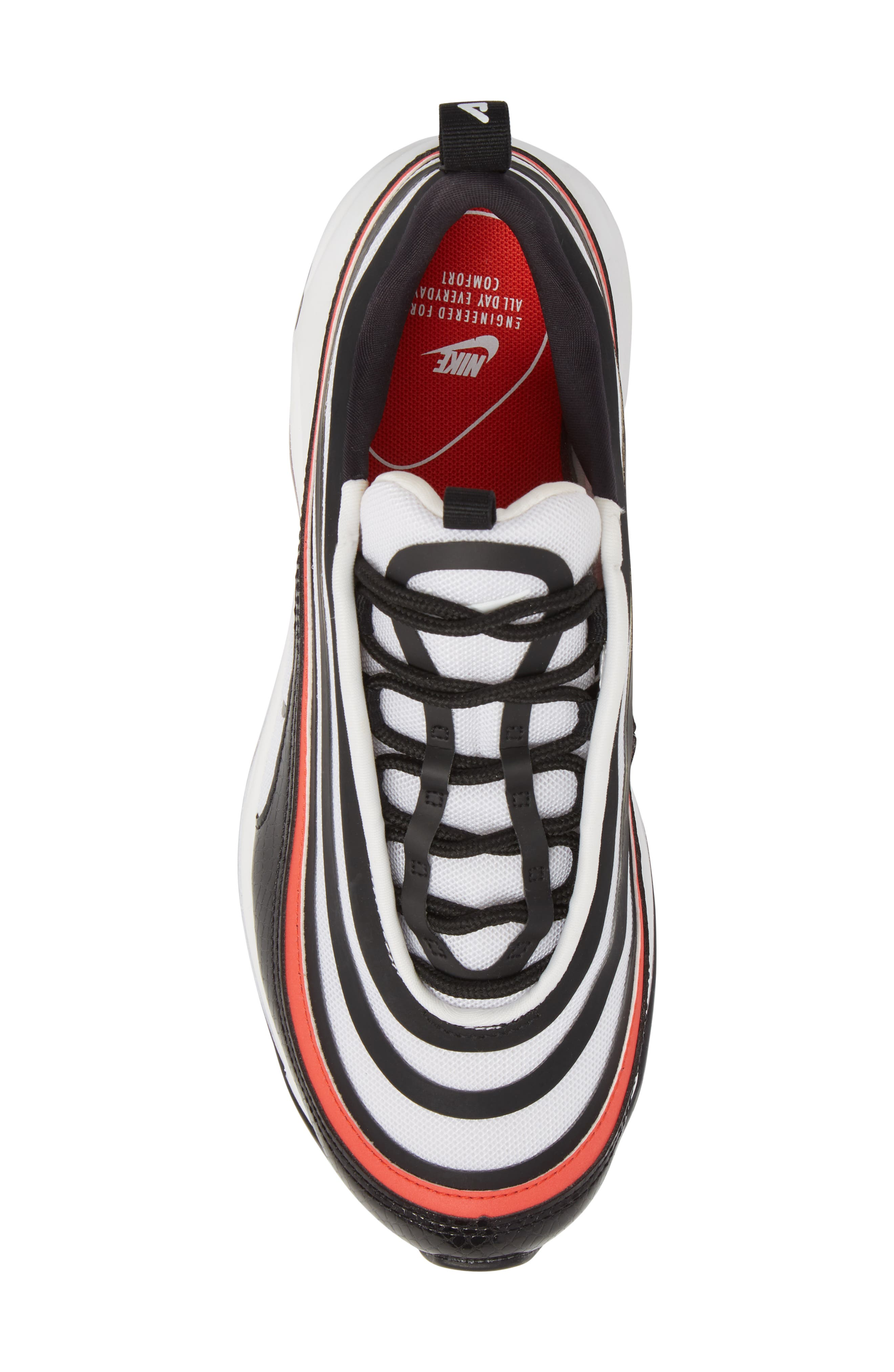 Air Max 97 Ultra '17 SE Sneaker,                             Alternate thumbnail 5, color,                             BLACK/ BLACK/ WHITE/ RED