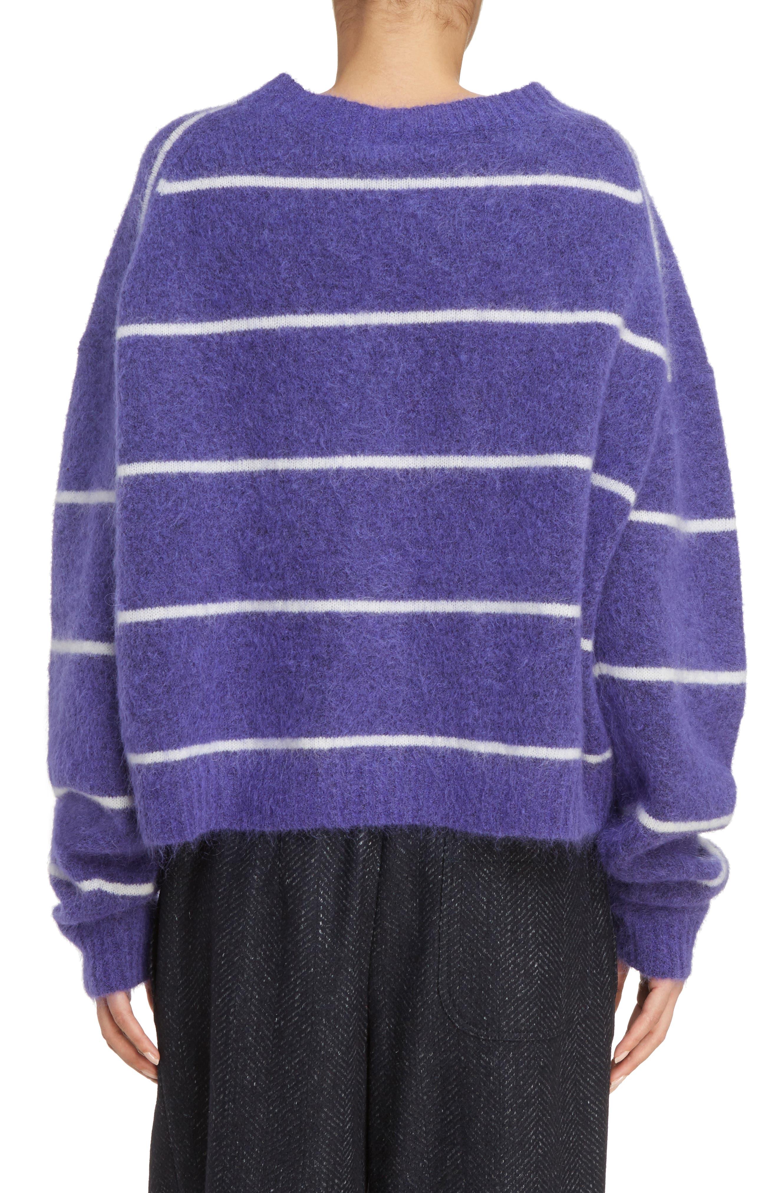 Rhira Stripe Crewneck Sweater,                             Alternate thumbnail 2, color,                             500