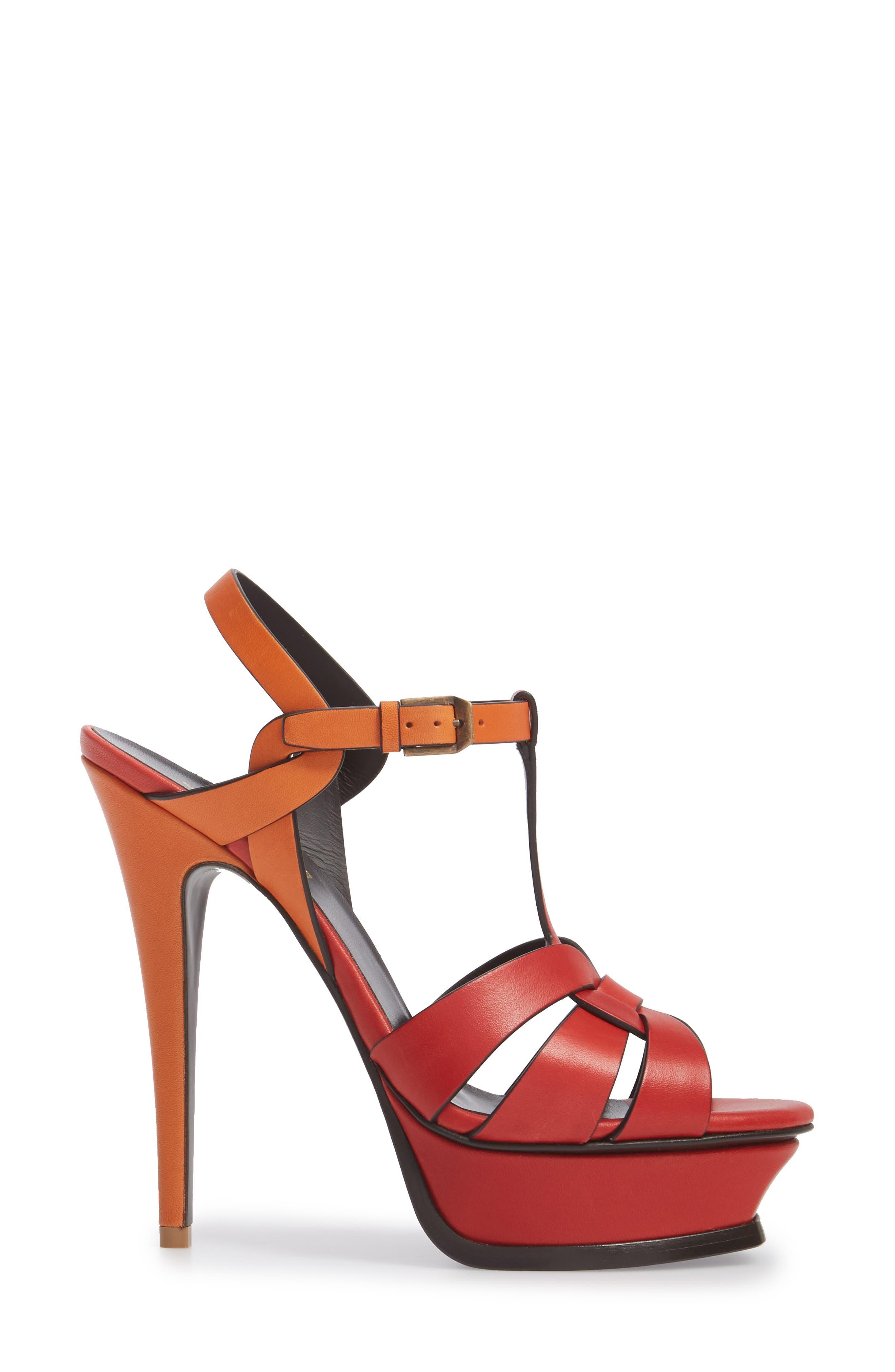 Tribute T-Strap Platform Sandal,                             Alternate thumbnail 3, color,                             640