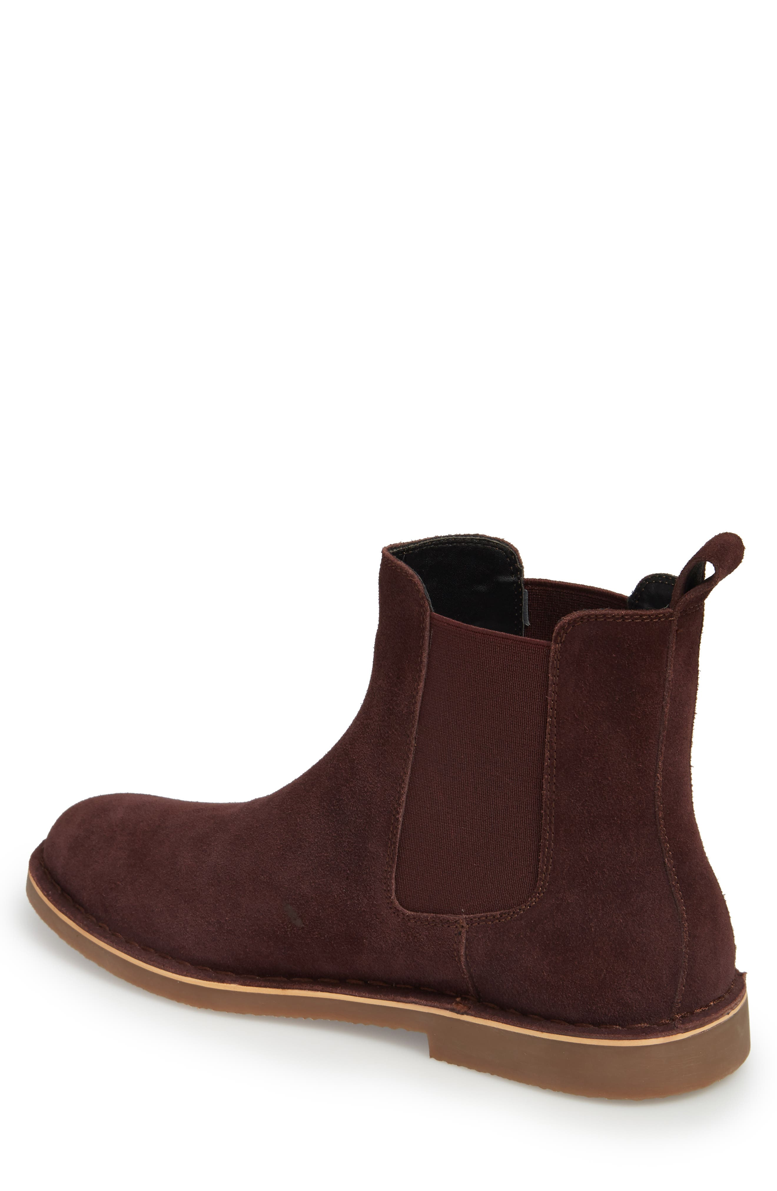 Mesa Chelsea Boot,                             Alternate thumbnail 2, color,                             BURGUNDY SUEDE