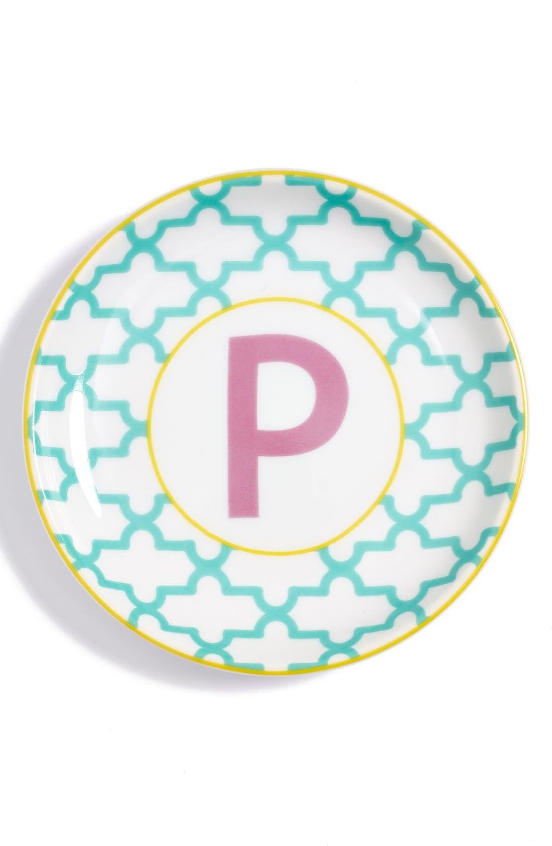 'L'Alphabet' Porcelain Tray,                             Main thumbnail 18, color,