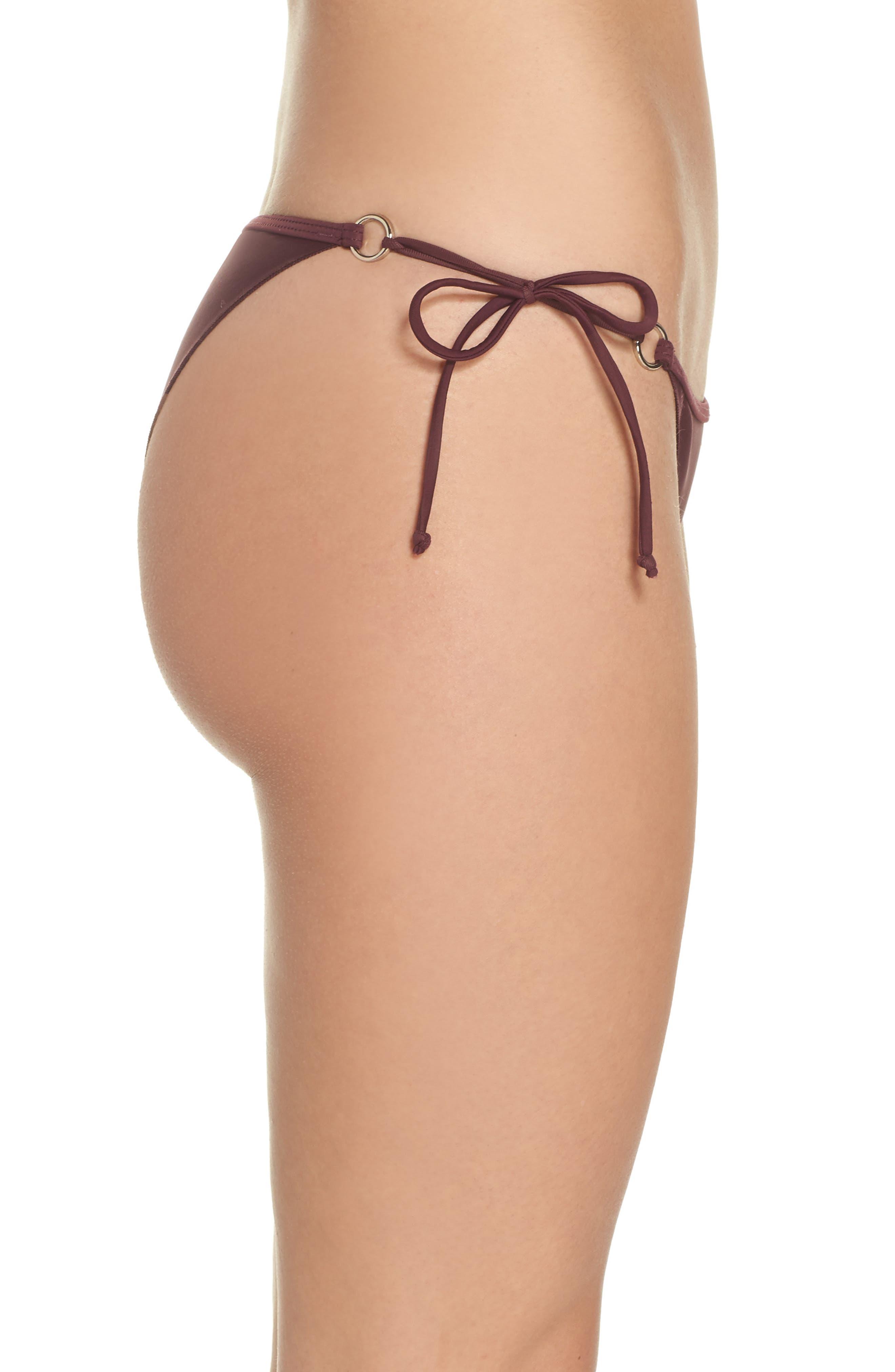 'Smoothies - Brasilia' Side Tie Bikini Bottoms,                             Alternate thumbnail 3, color,                             203