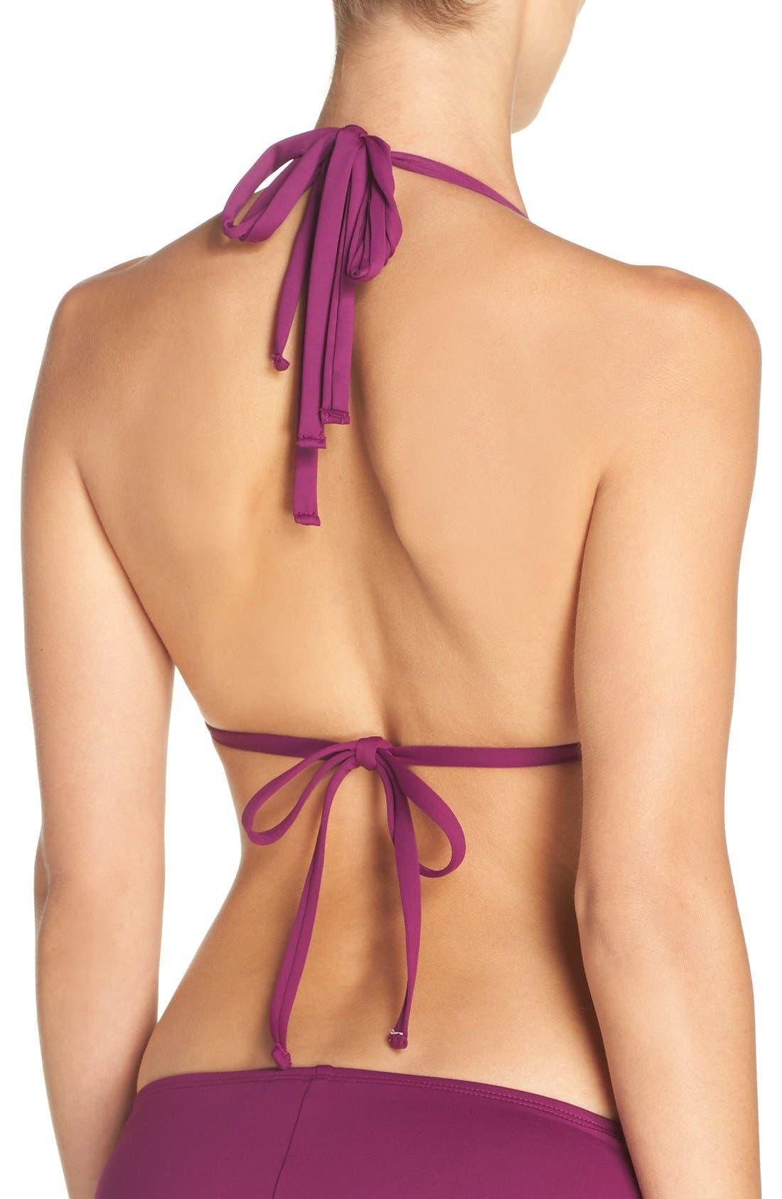 Island Blanca Halter Bikini Top,                             Alternate thumbnail 22, color,