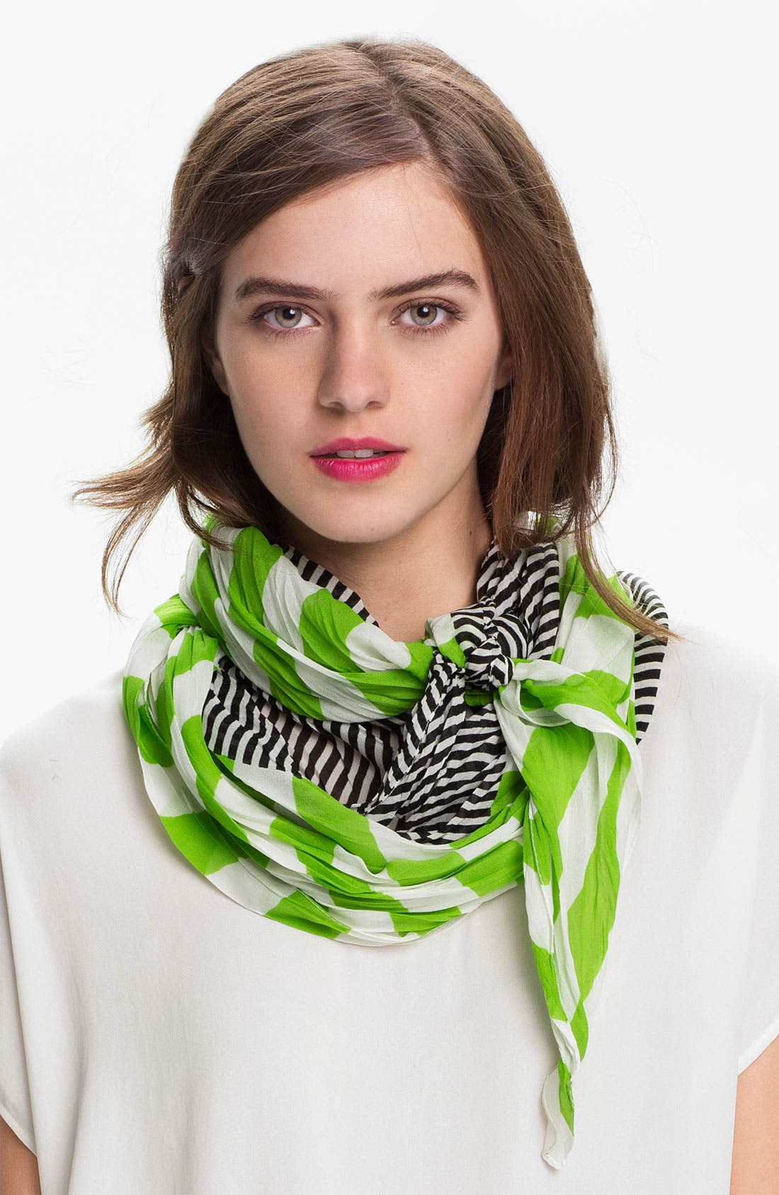 'Crinkle Stripe' Scarf,                             Main thumbnail 1, color,                             320