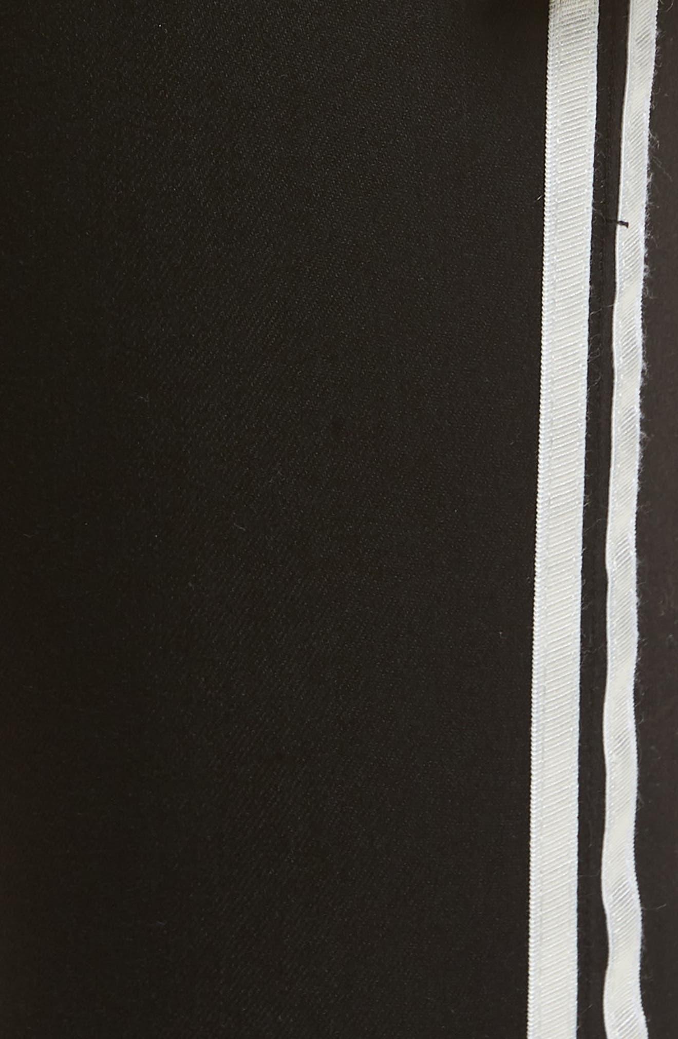 Sarah Stripe Skinny Jeans,                             Alternate thumbnail 5, color,                             011