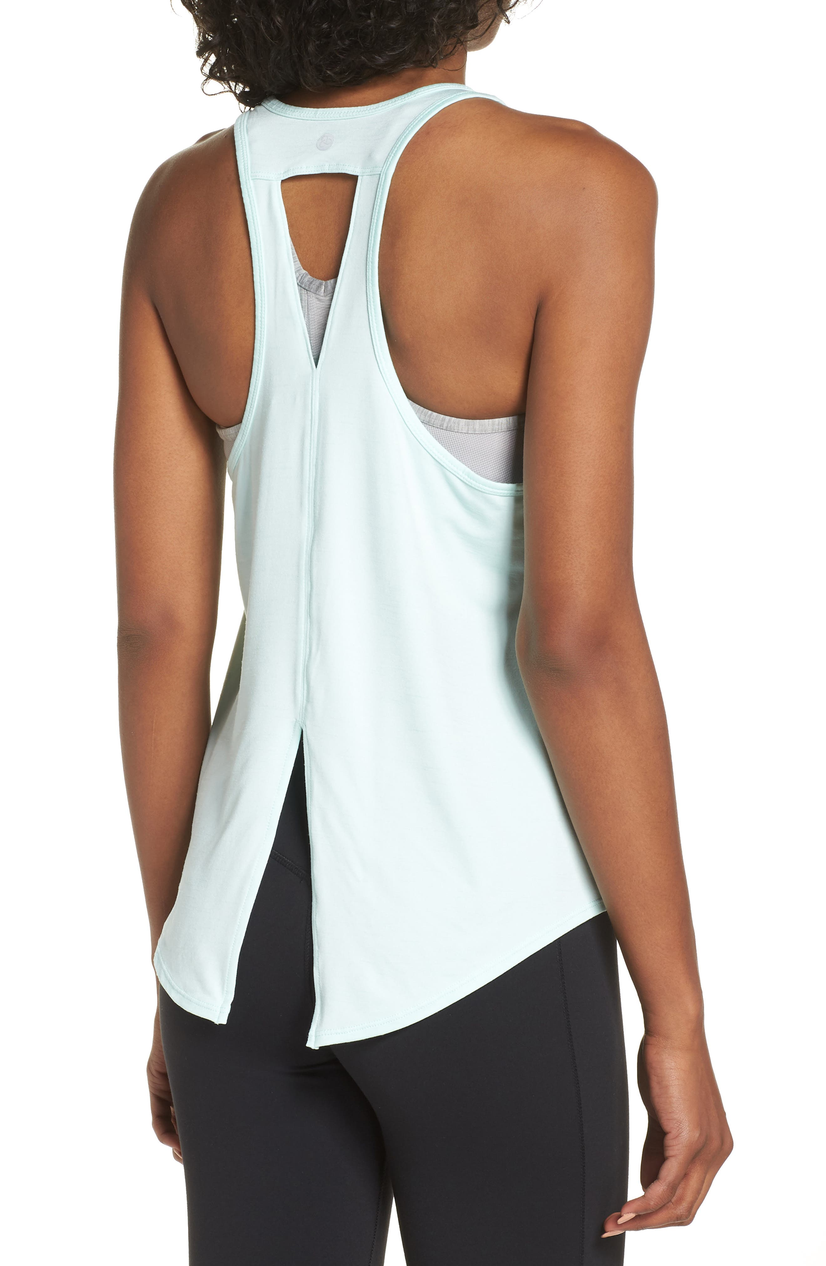 ZELLA,                             Intention Tank,                             Alternate thumbnail 4, color,                             TEAL FAIR