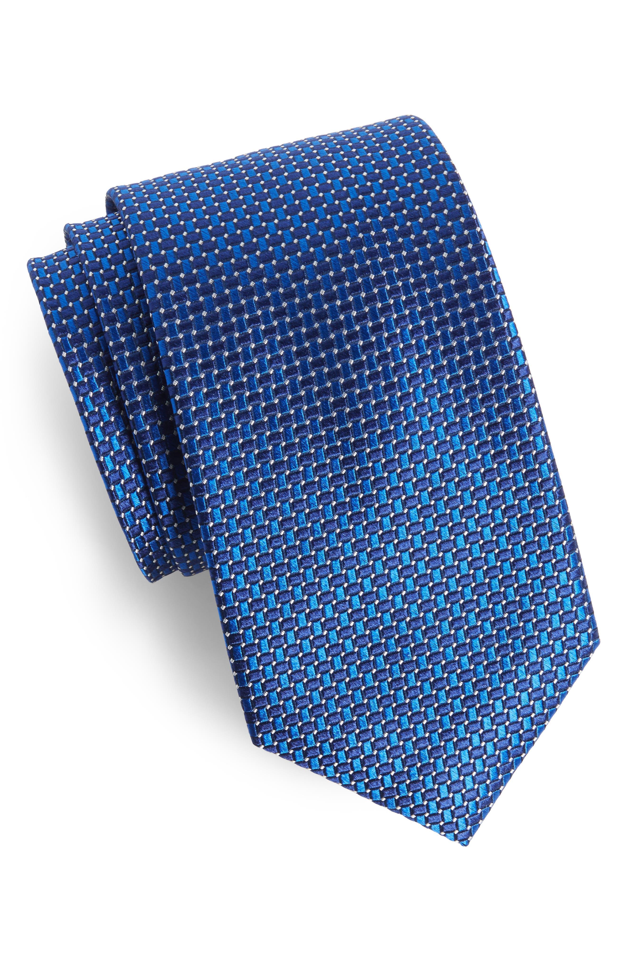 Basketweave Silk Tie,                             Main thumbnail 2, color,