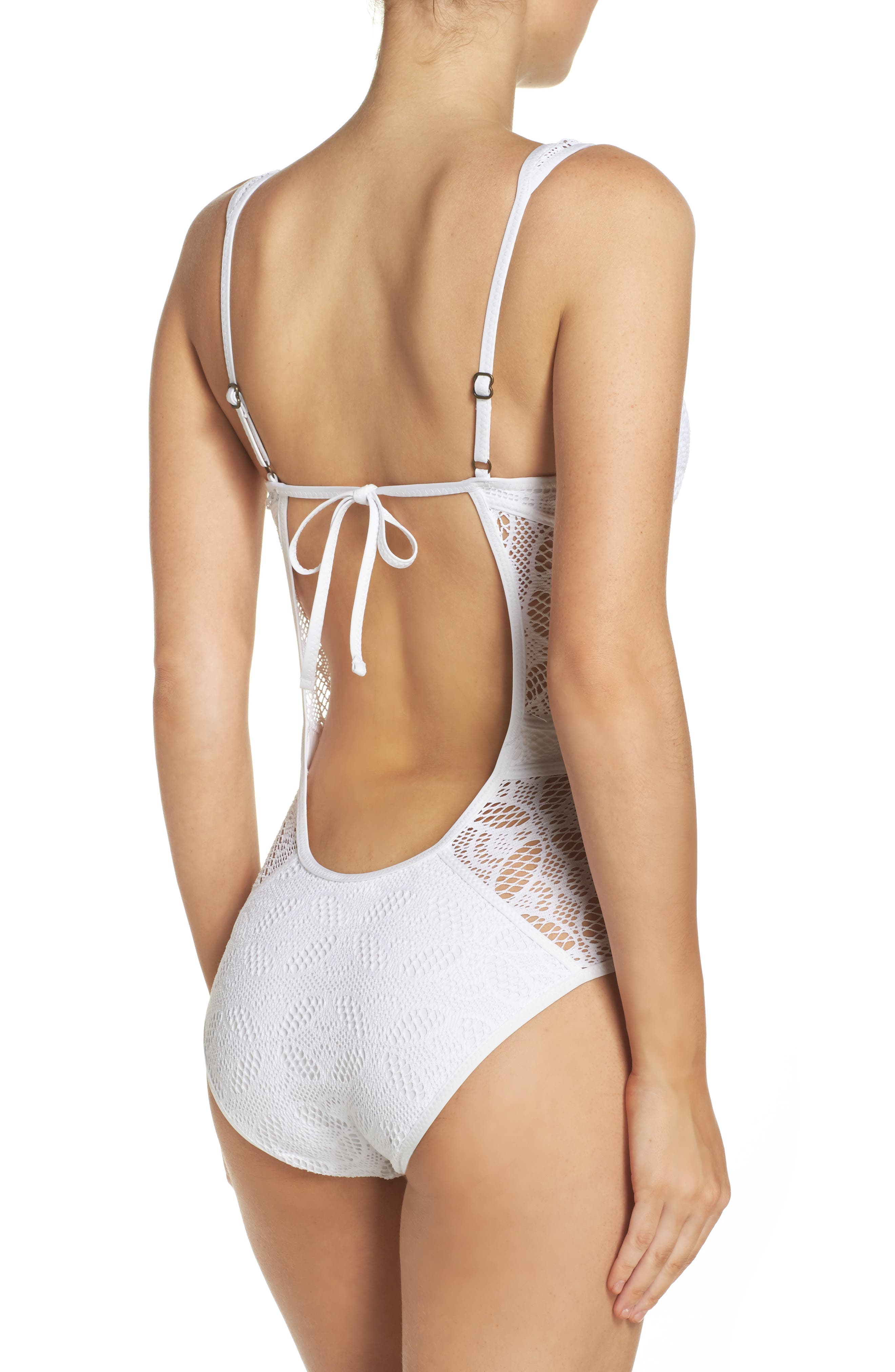 Color Play One-Piece Swimsuit,                             Alternate thumbnail 8, color,