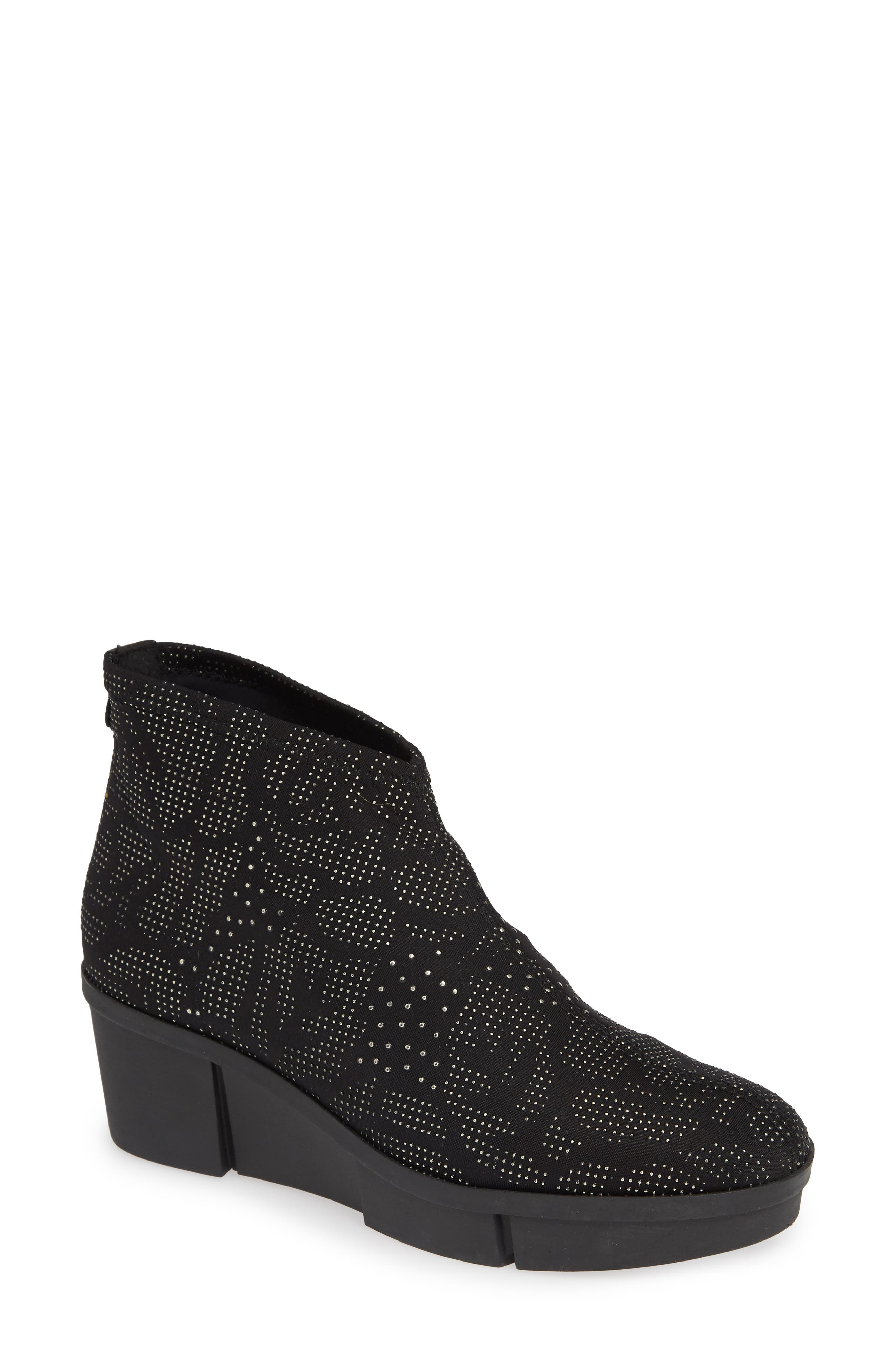 TONI PONS Baku Bootie in Black Studded Fabric