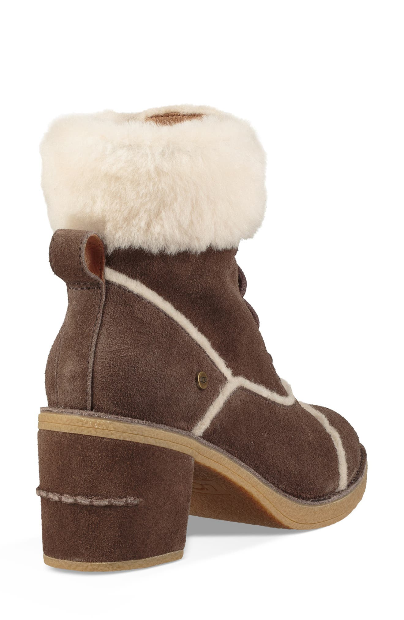 Esterly Genuine Shearling Boot,                             Alternate thumbnail 2, color,                             MYSTERIOUS