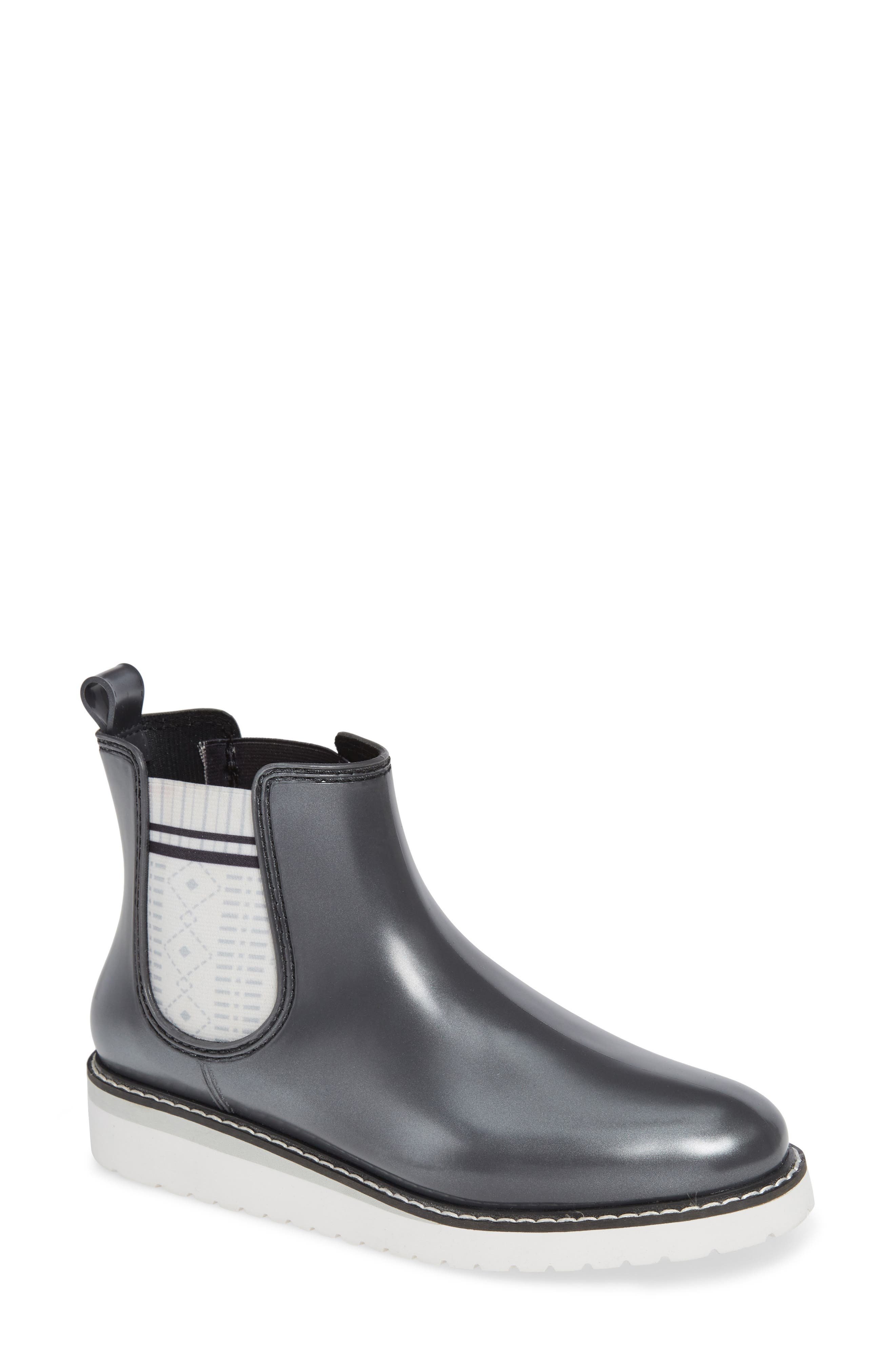 Kensington Chelsea Rain Boot,                             Main thumbnail 1, color,                             SILVER METALLIC